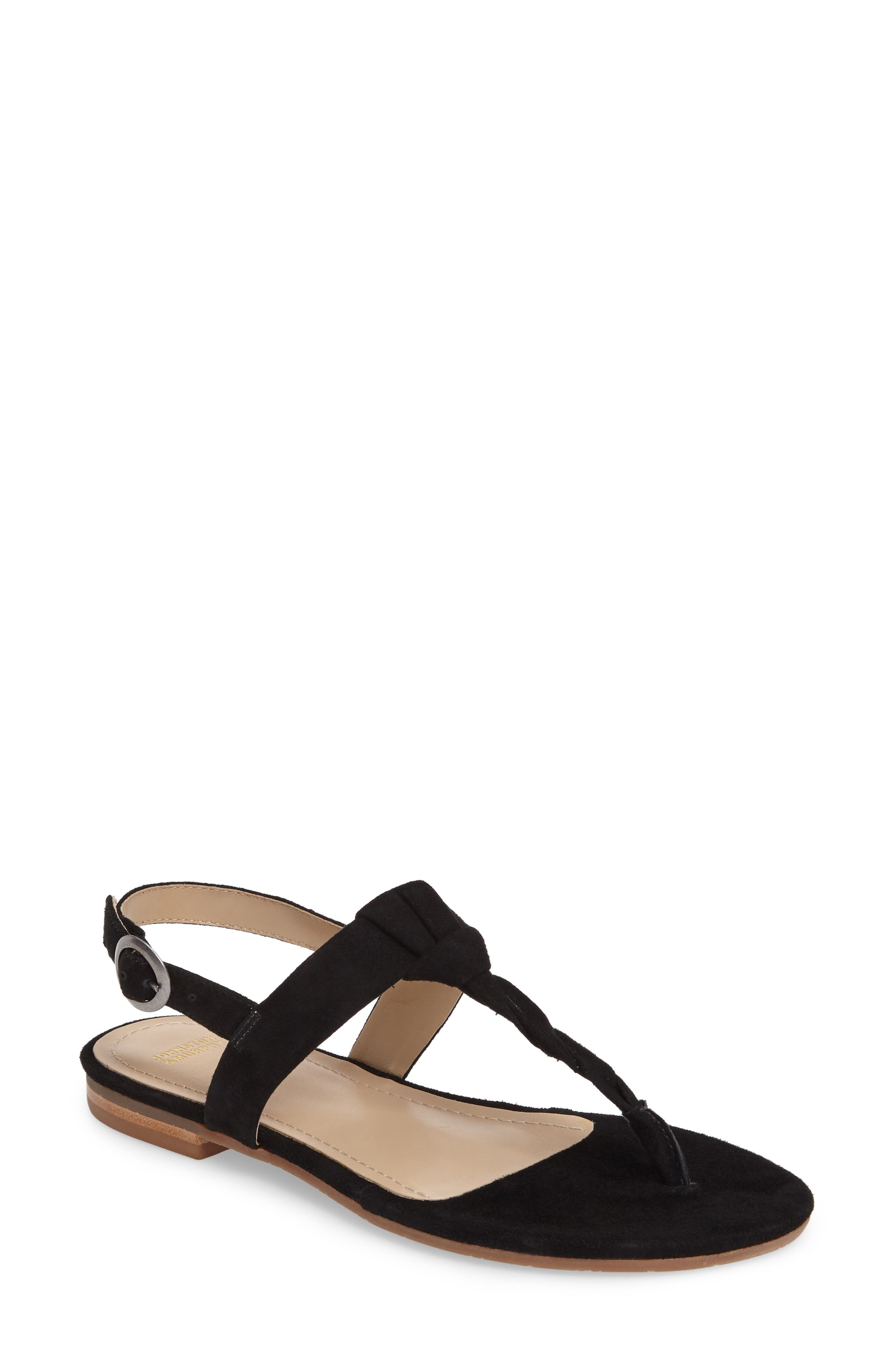 Holly Twisted T-Strap Sandal,                             Main thumbnail 1, color,                             001