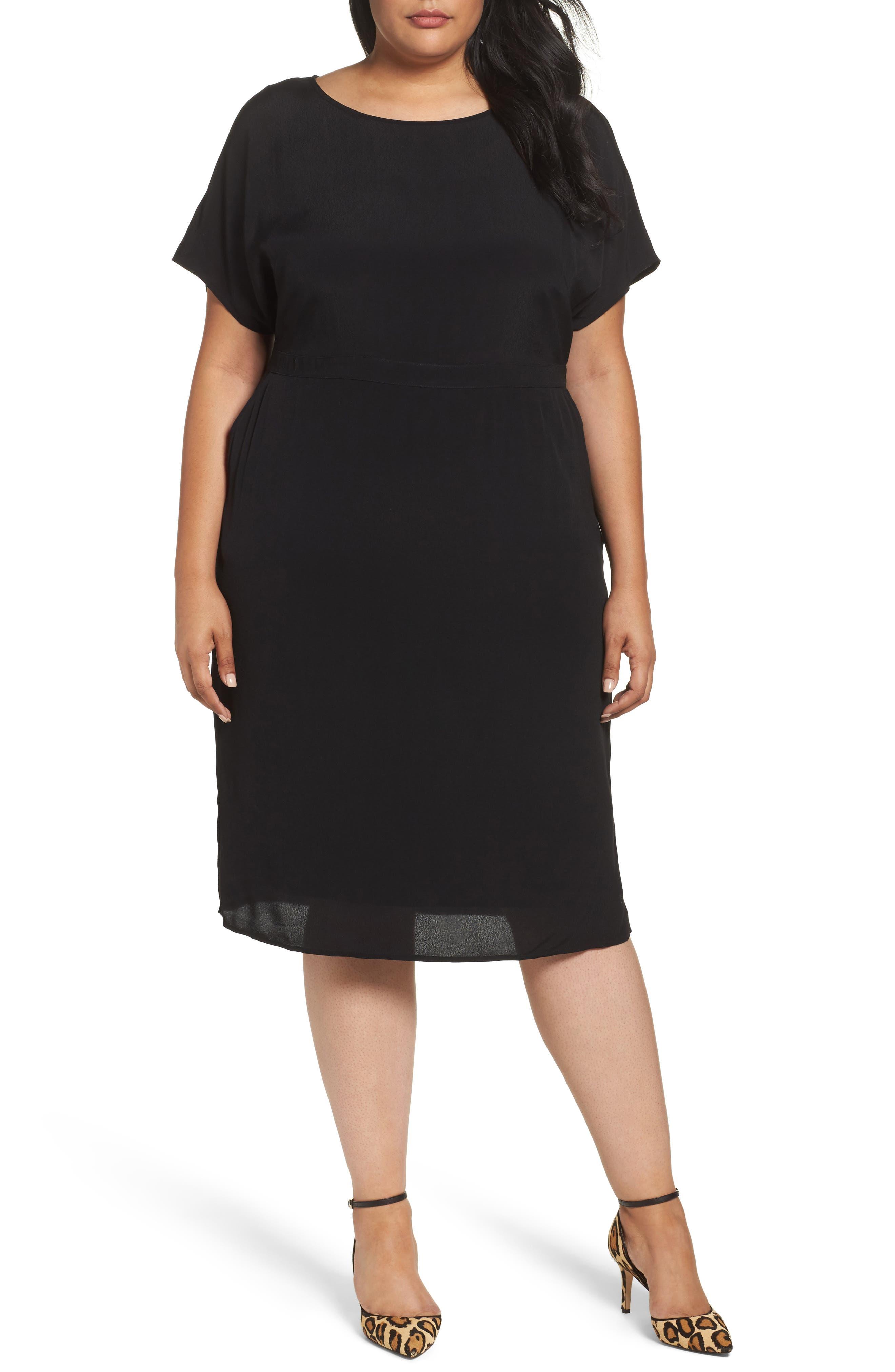 Dolman Sleeve Shift Dress,                             Main thumbnail 1, color,