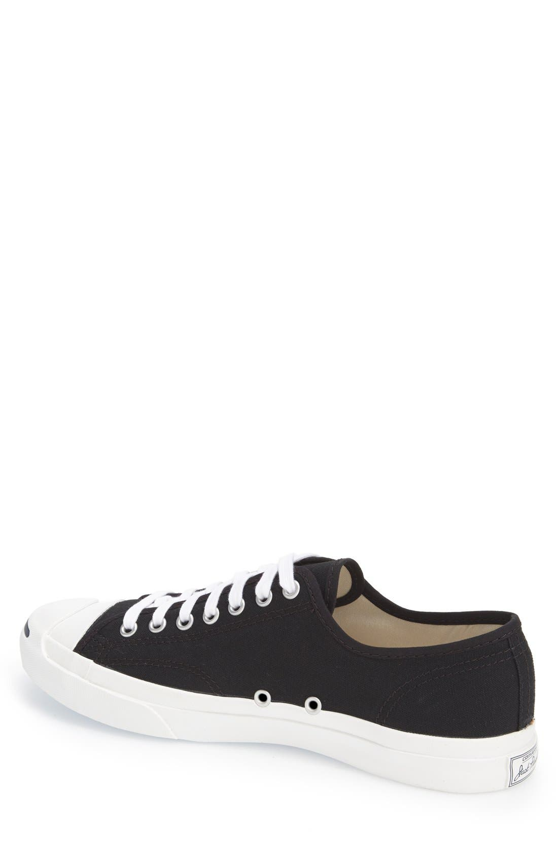 CONVERSE,                             'Jack Purcell' Sneaker,                             Alternate thumbnail 4, color,                             BLACK