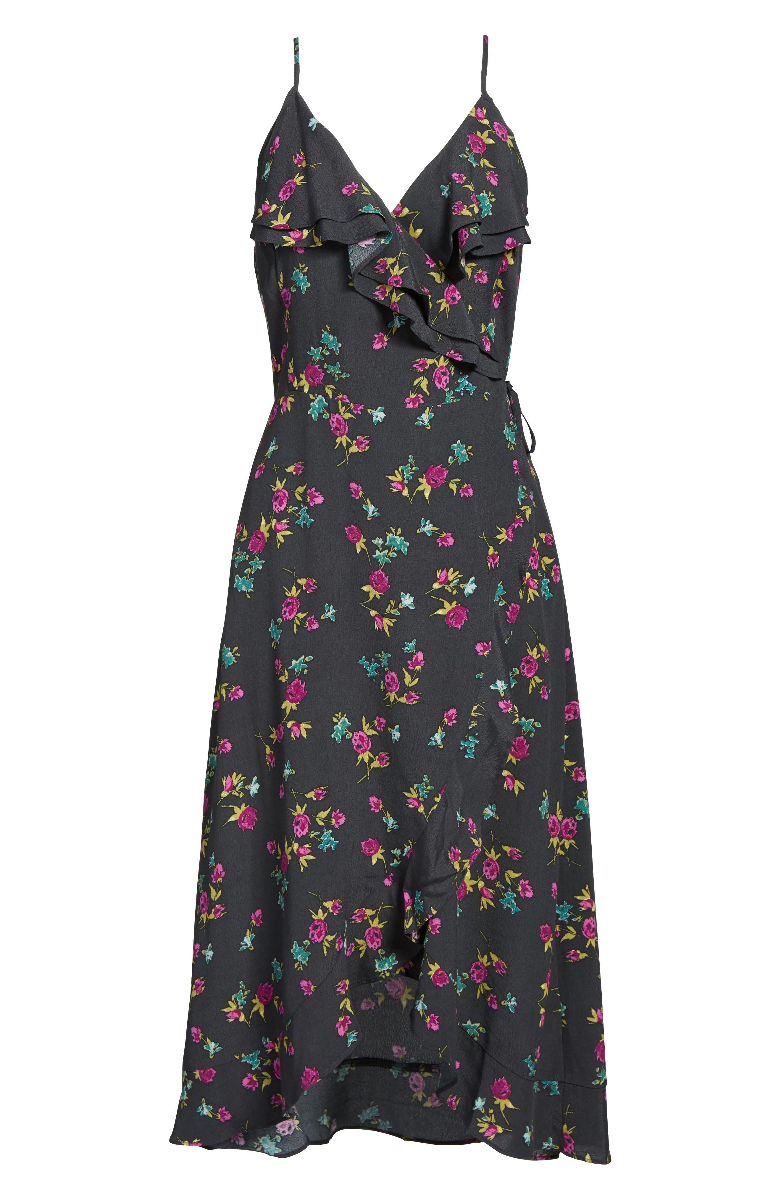 Flounce Wrap Midi Dress,                             Alternate thumbnail 24, color,