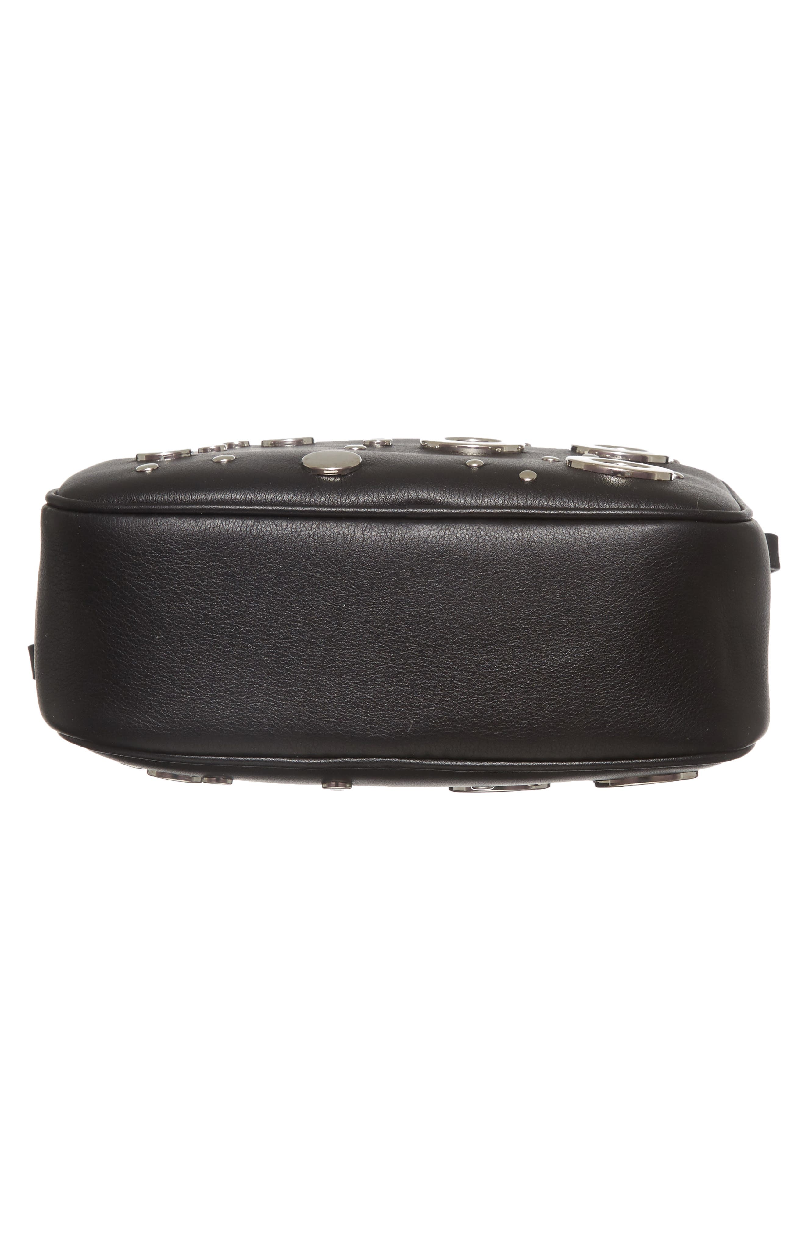 Small Leather Camera Bag,                             Alternate thumbnail 6, color,                             001