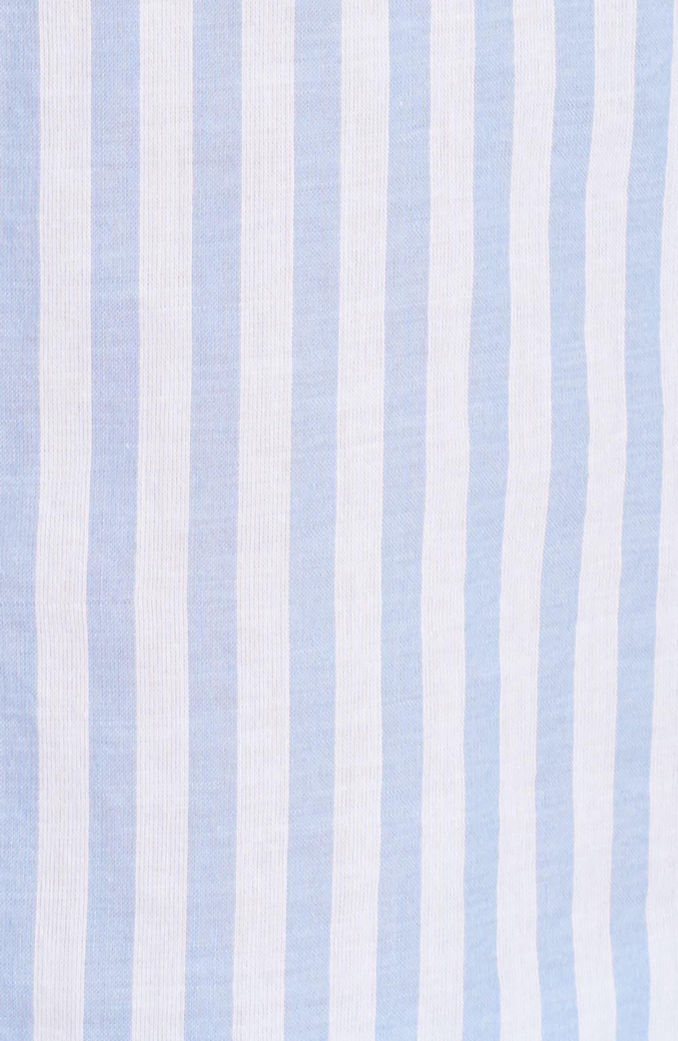 Stripe Short Pajamas,                             Alternate thumbnail 5, color,                             100