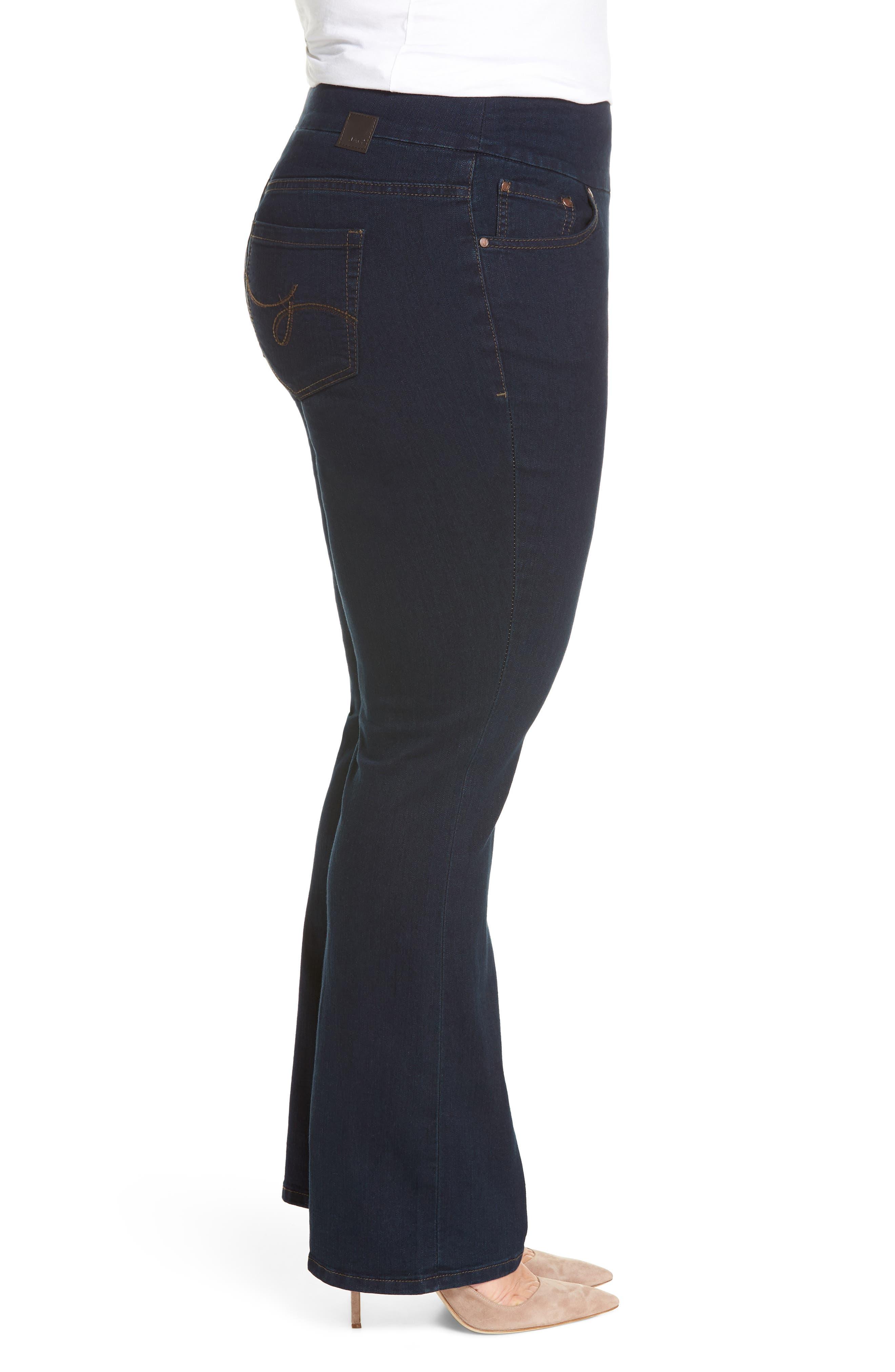 Peri Stretch Straight Leg Jeans,                             Alternate thumbnail 3, color,                             DARK INDIGO