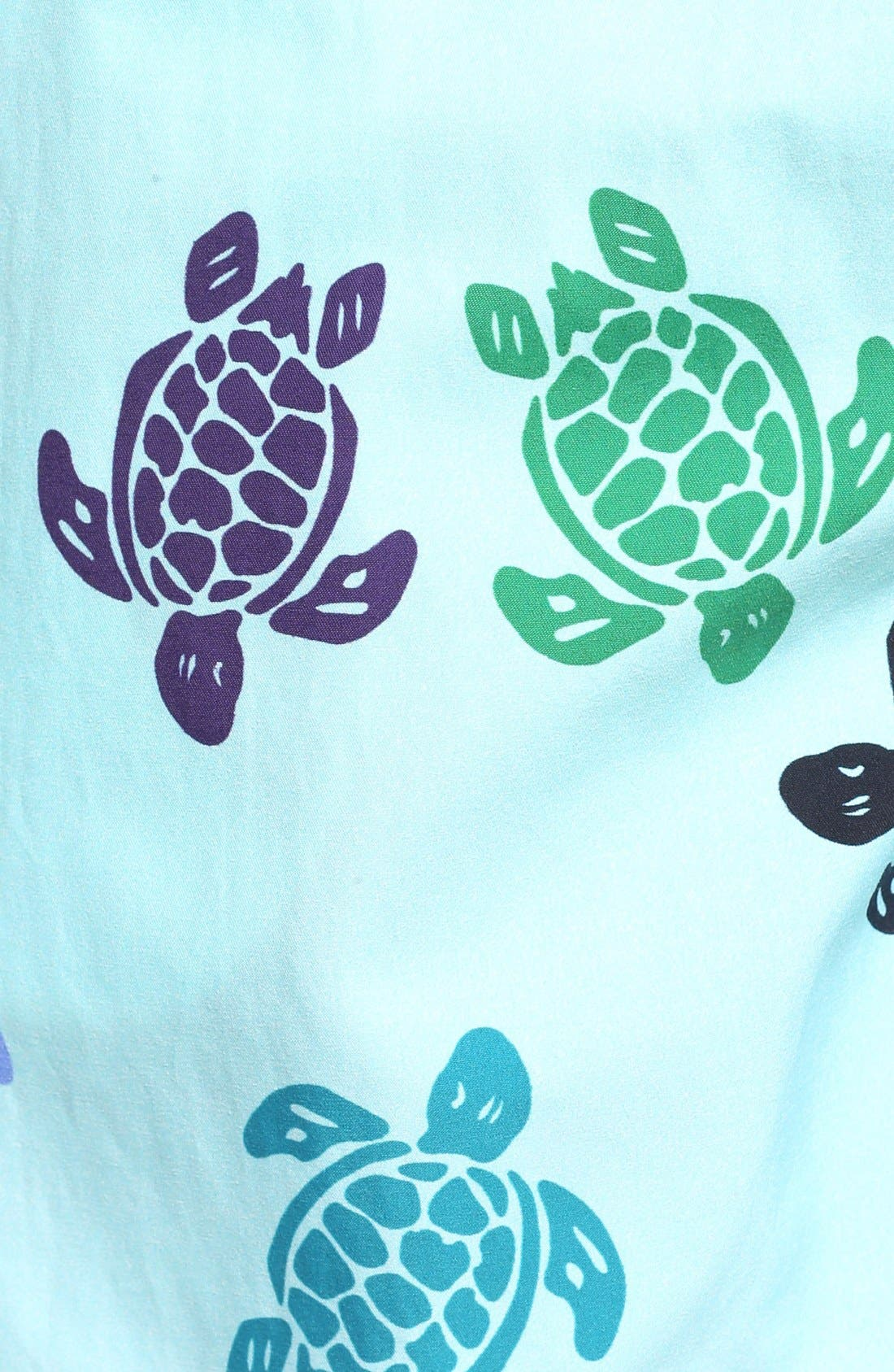 Turtle Dance Print Swim Trunks,                             Alternate thumbnail 5, color,                             463