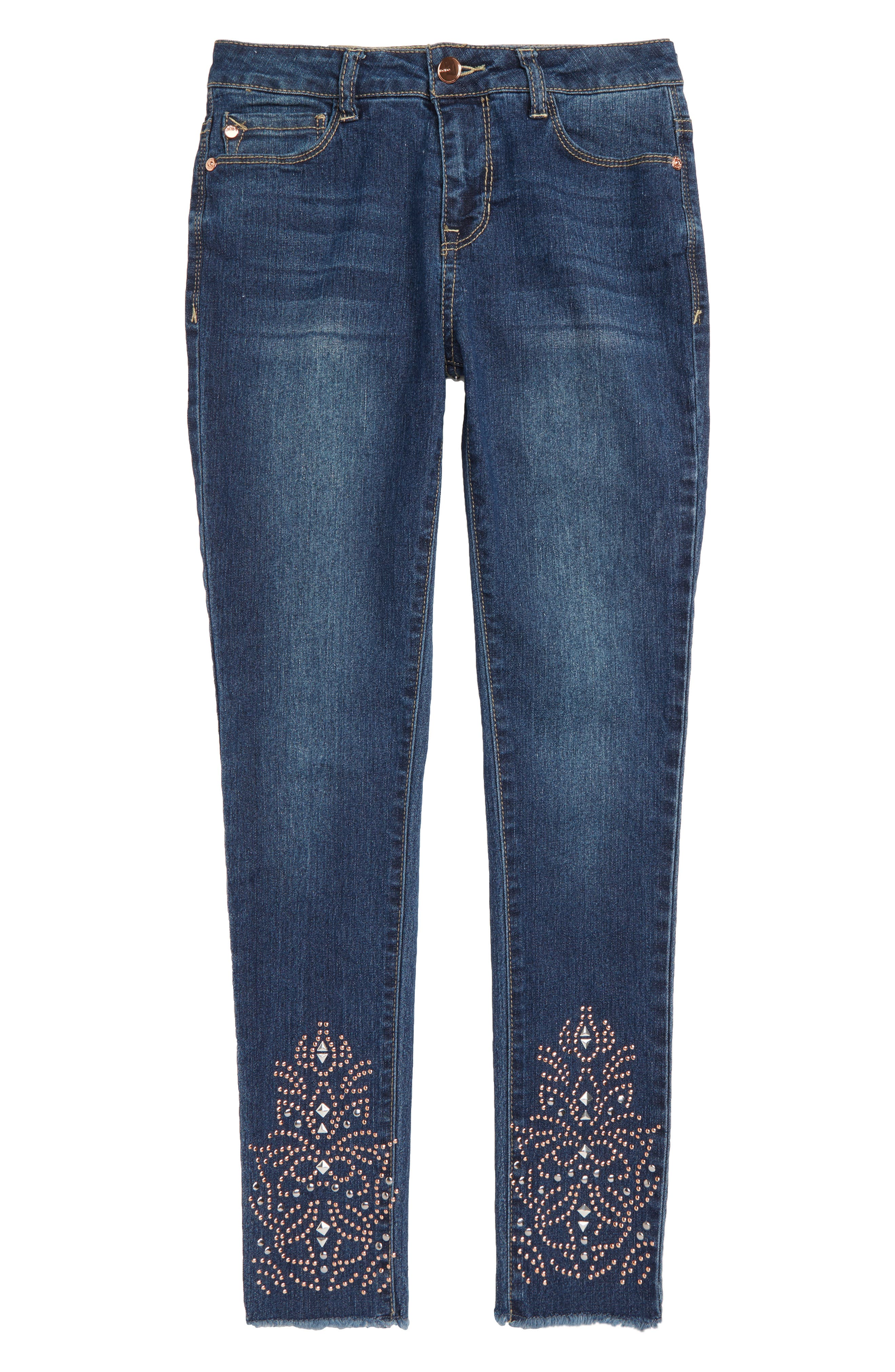 Studded Jeans,                             Main thumbnail 1, color,                             402