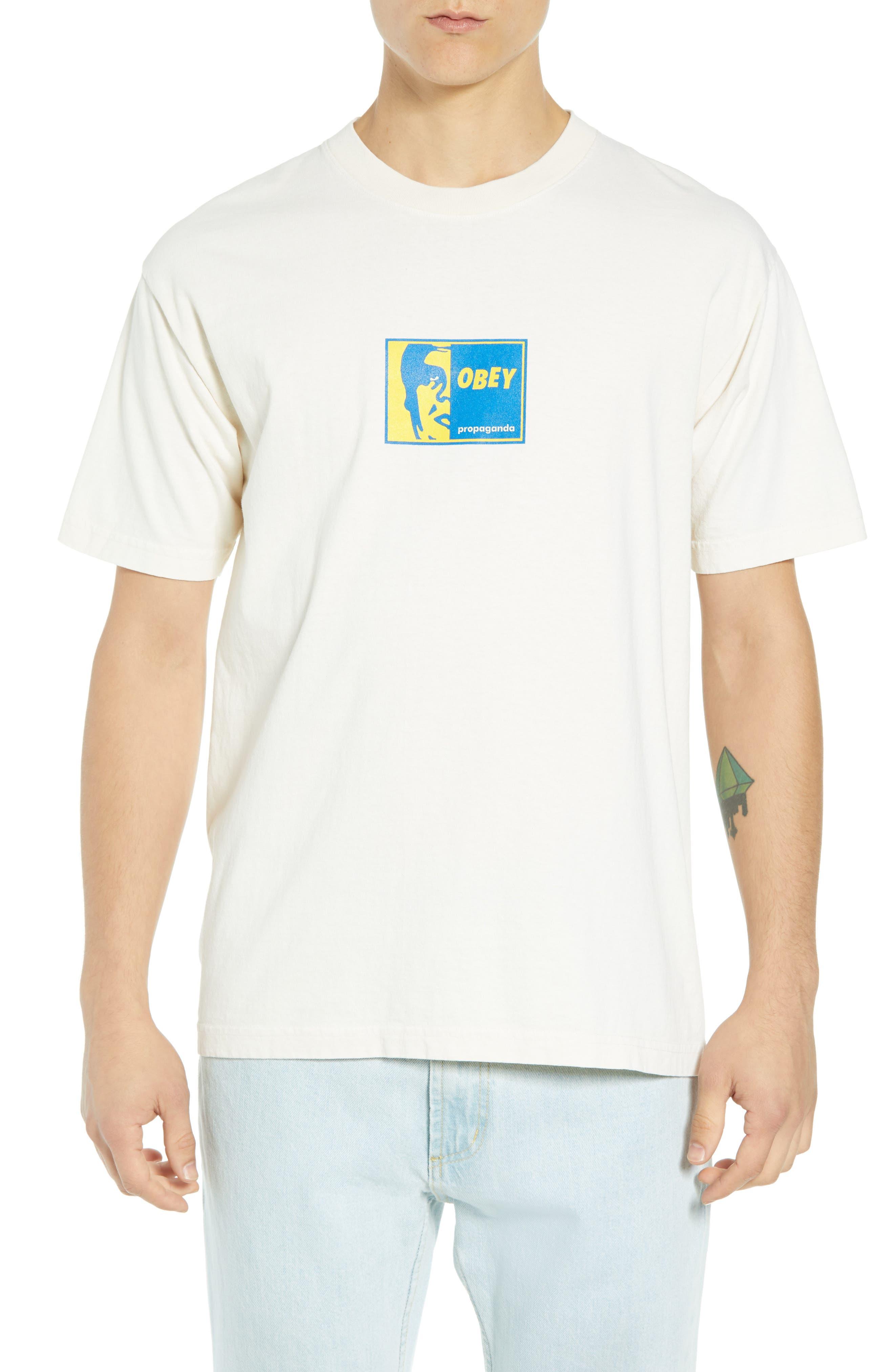 Slap On Box T-Shirt,                             Main thumbnail 1, color,                             CREAM