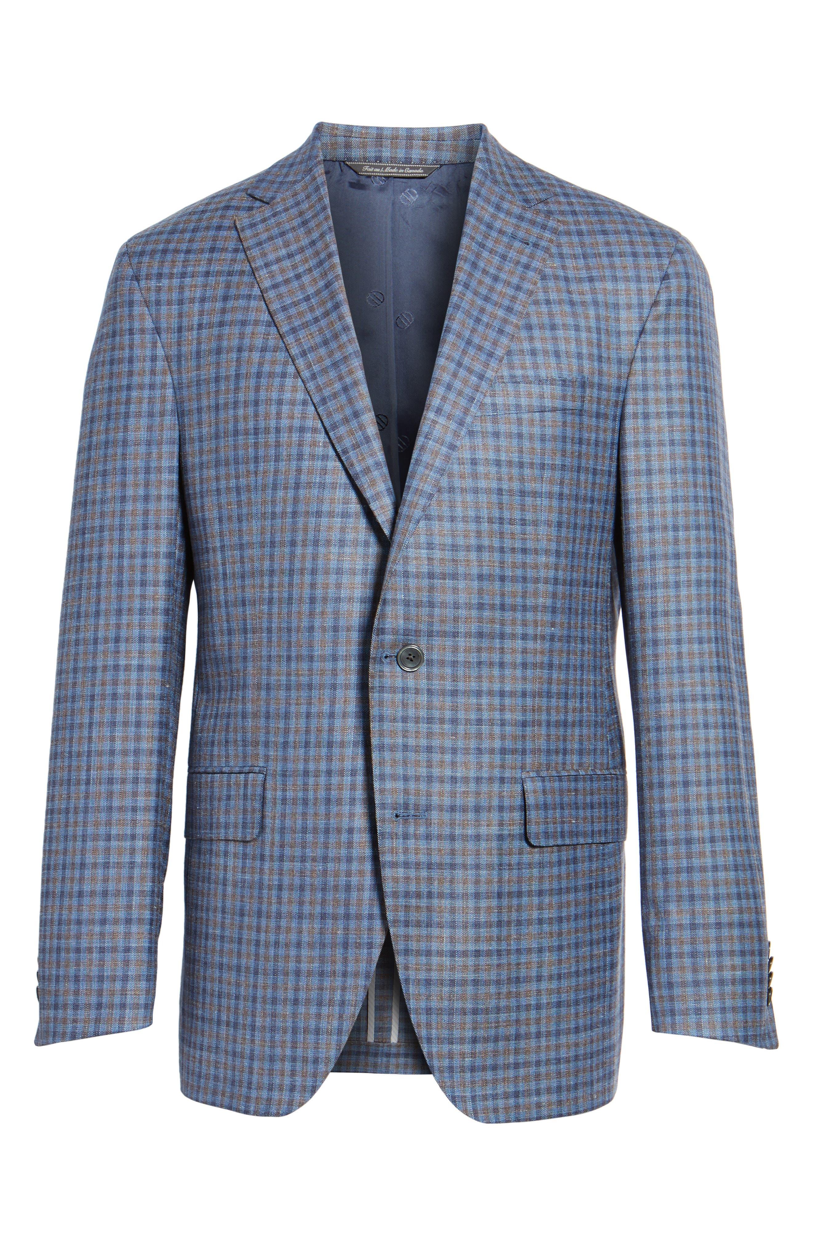 Ashton Classic Fit Stretch Check Wool Blend Sport Coat,                             Alternate thumbnail 5, color,