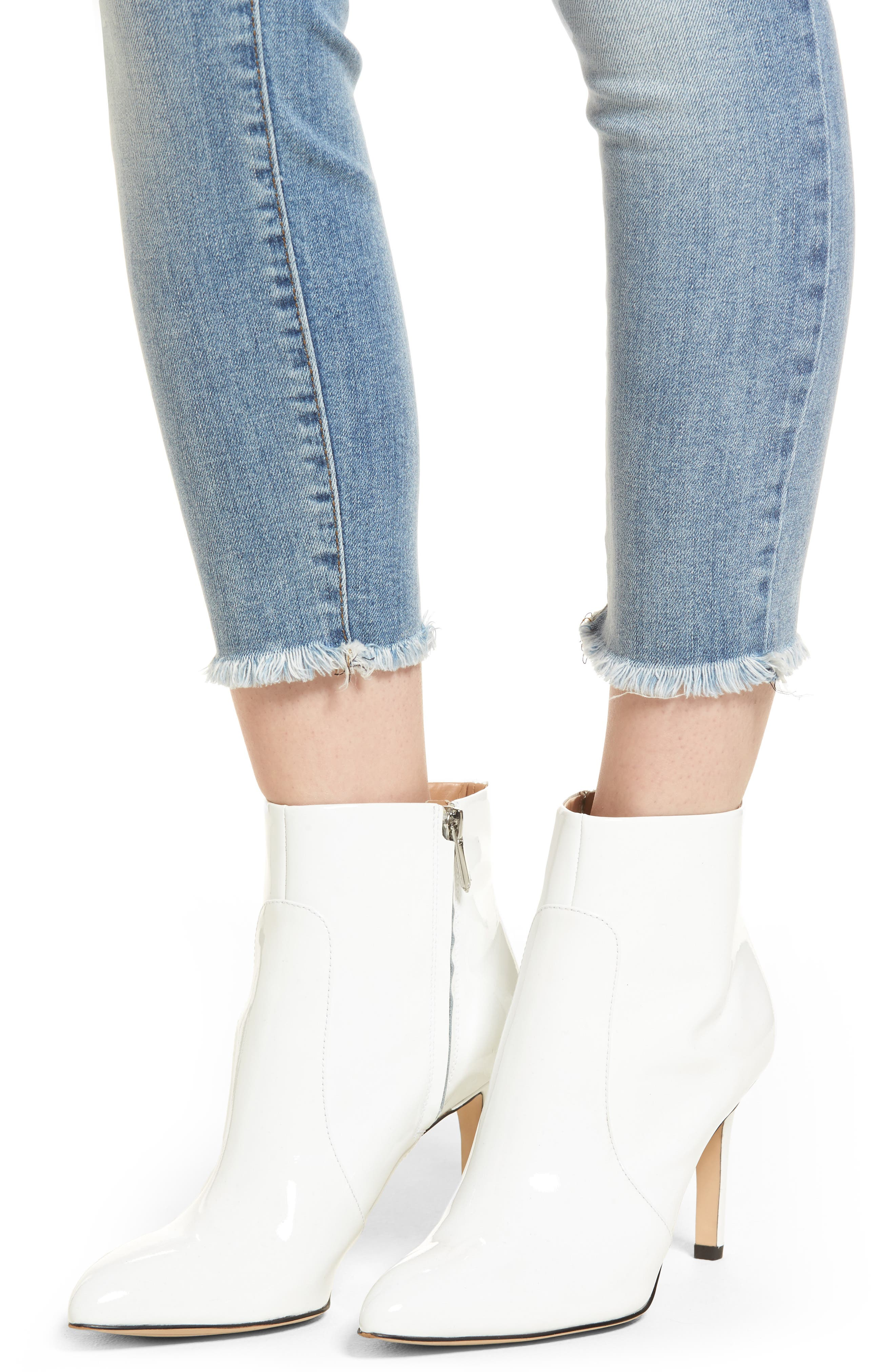 Emma Ripped Ankle Skinny Jeans,                             Alternate thumbnail 4, color,