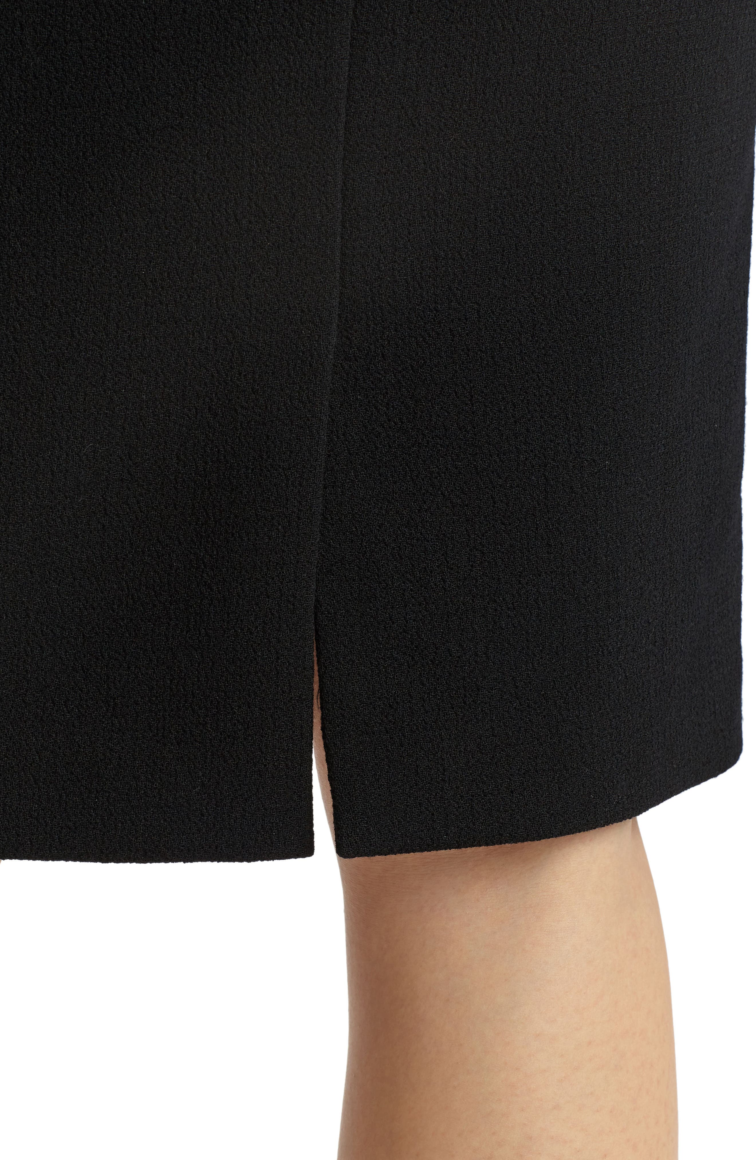 Pencil Skirt with Back Vent,                             Alternate thumbnail 4, color,                             001