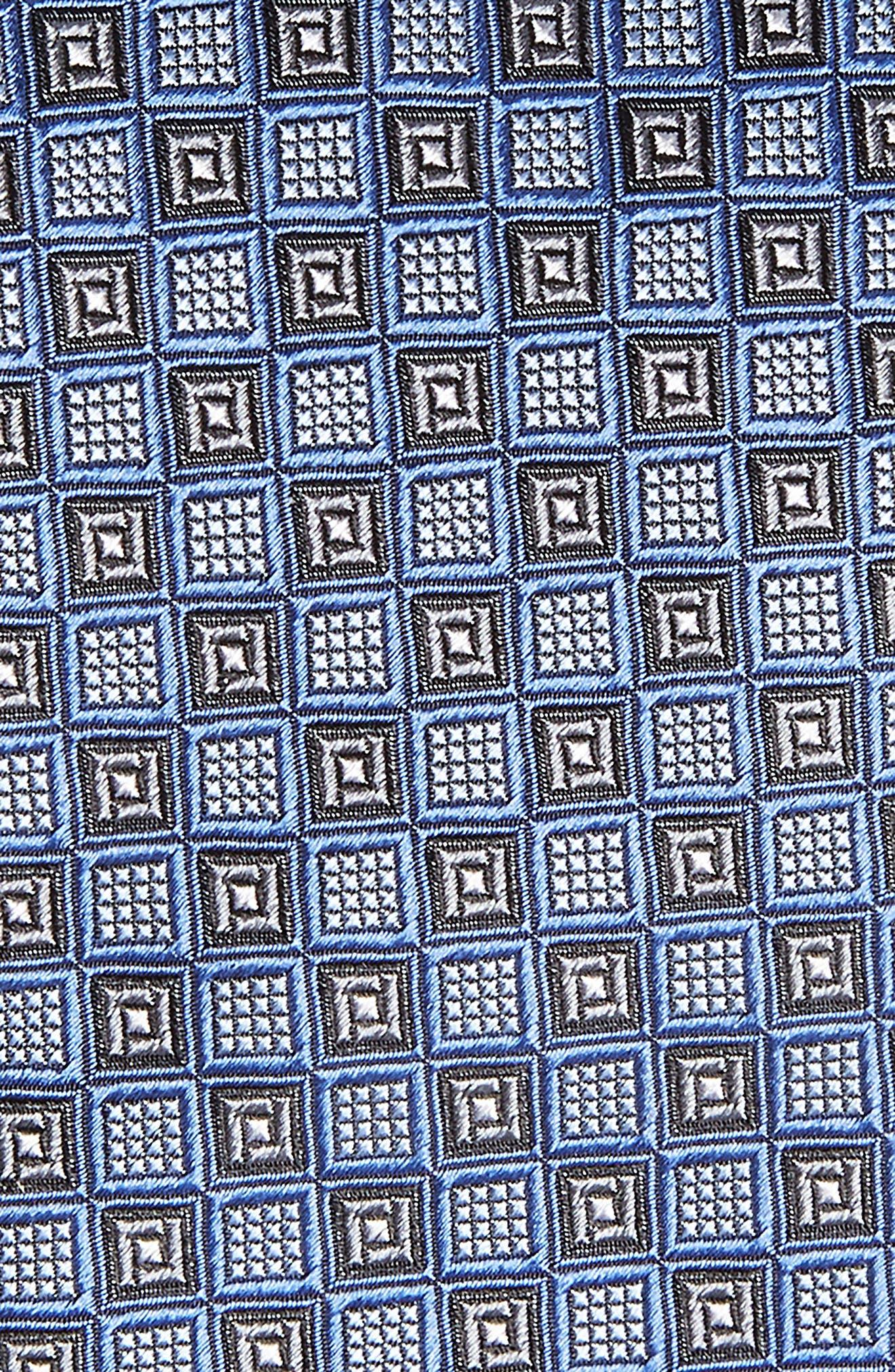 Grid Silk Tie,                             Alternate thumbnail 2, color,                             420