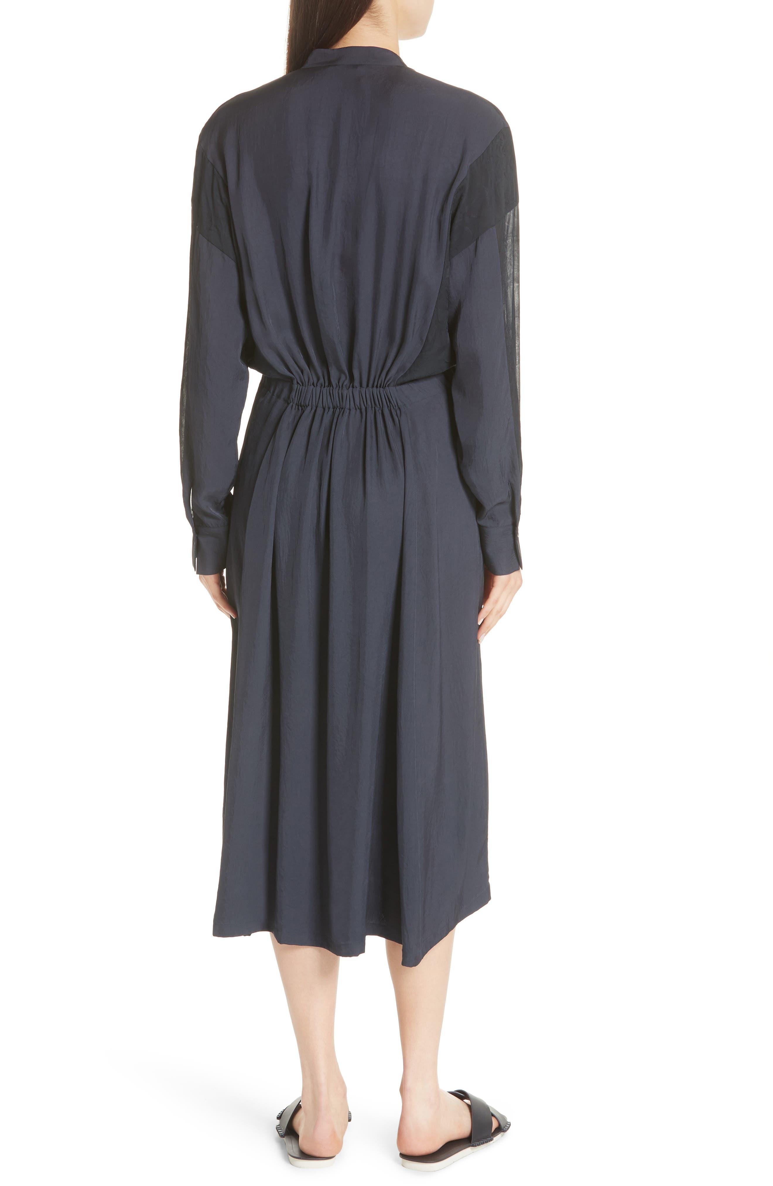 Mixed Media Midi Dress,                             Alternate thumbnail 2, color,                             403