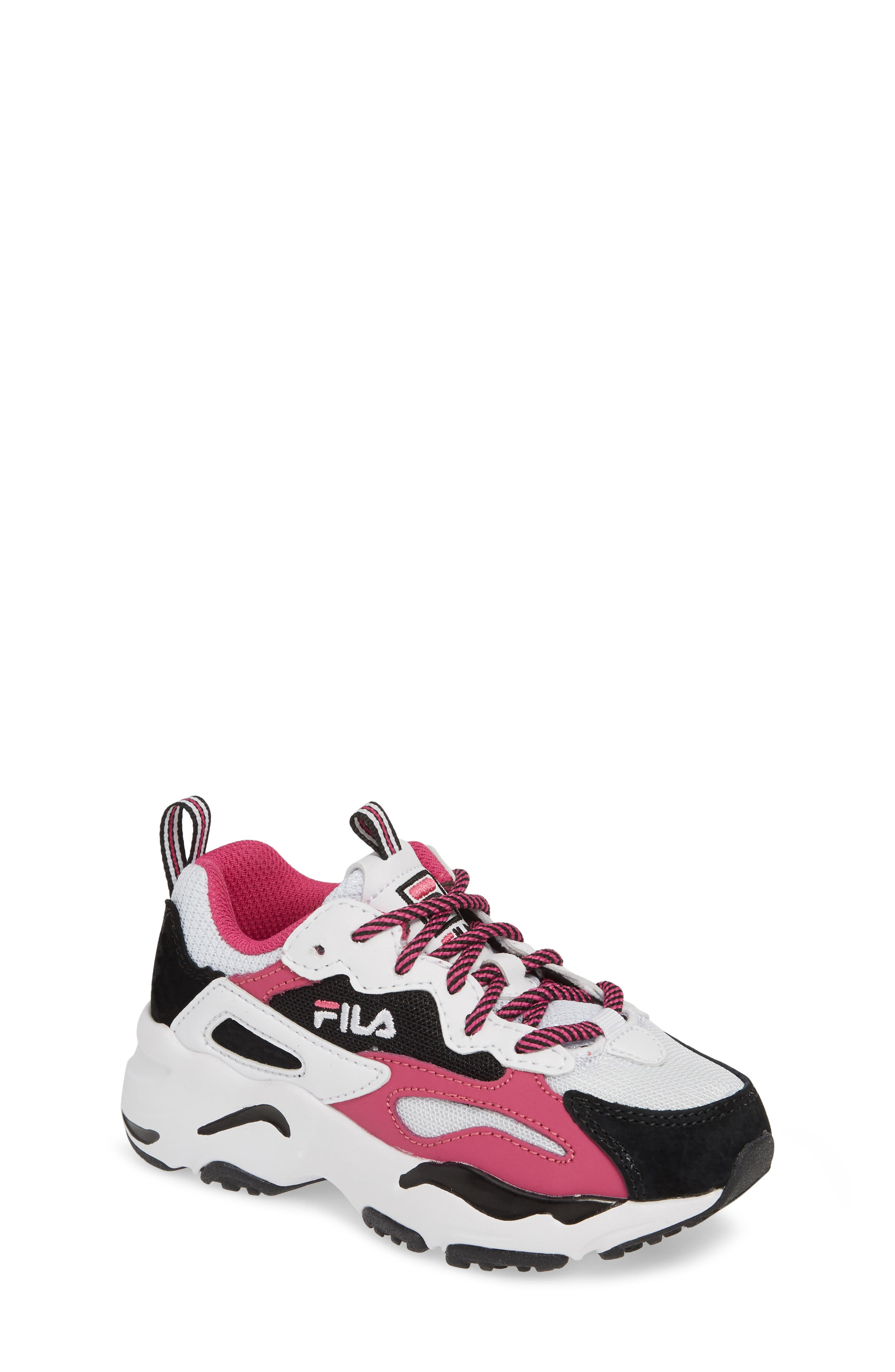 Kids Fila Ray Tracer Sneaker Size 45 M  White