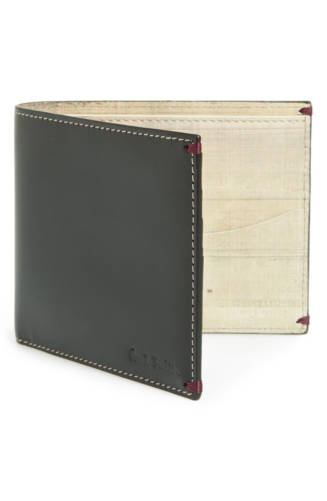 PAUL SMITH,                             'Mini Through Door' Billfold Wallet,                             Main thumbnail 1, color,                             001