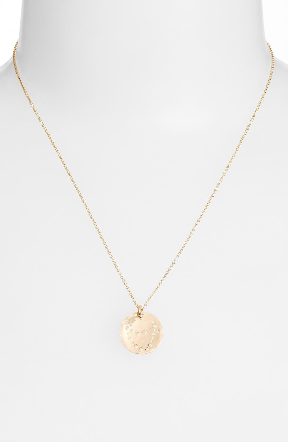 Ija 'Small Zodiac' 14k-Gold Fill Necklace,                             Alternate thumbnail 22, color,
