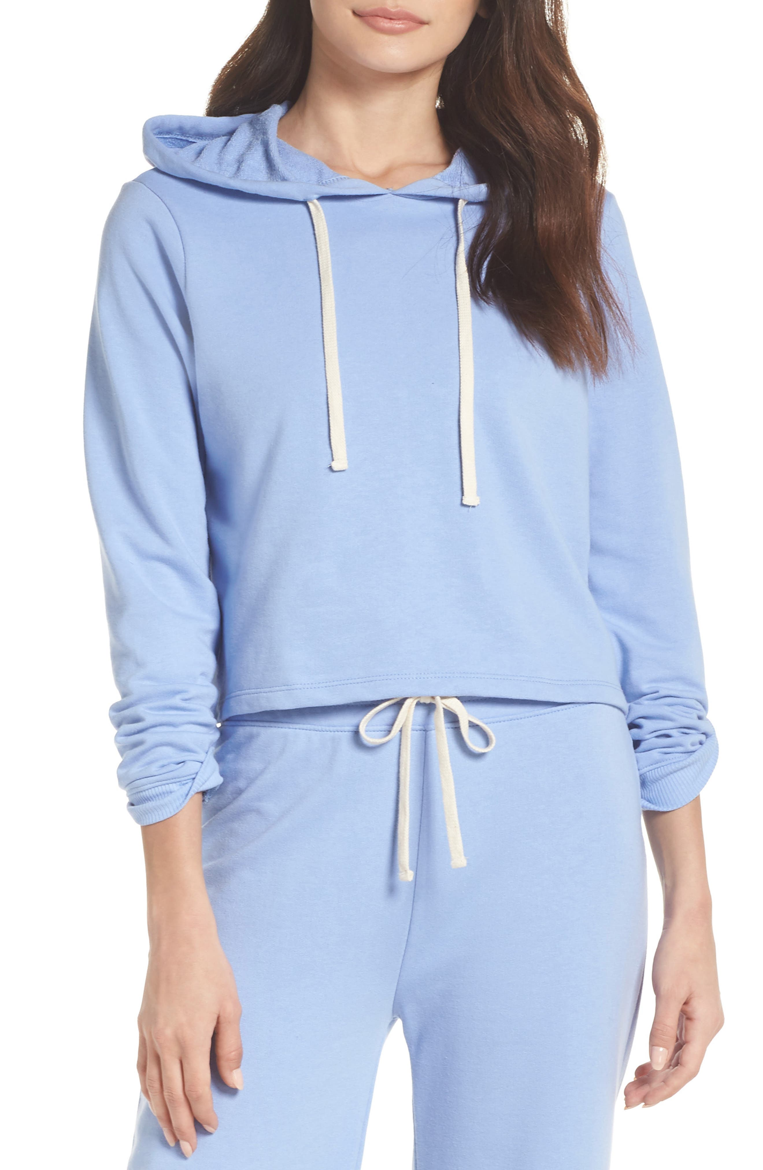 Cropped Terry Hoodie,                             Main thumbnail 2, color,