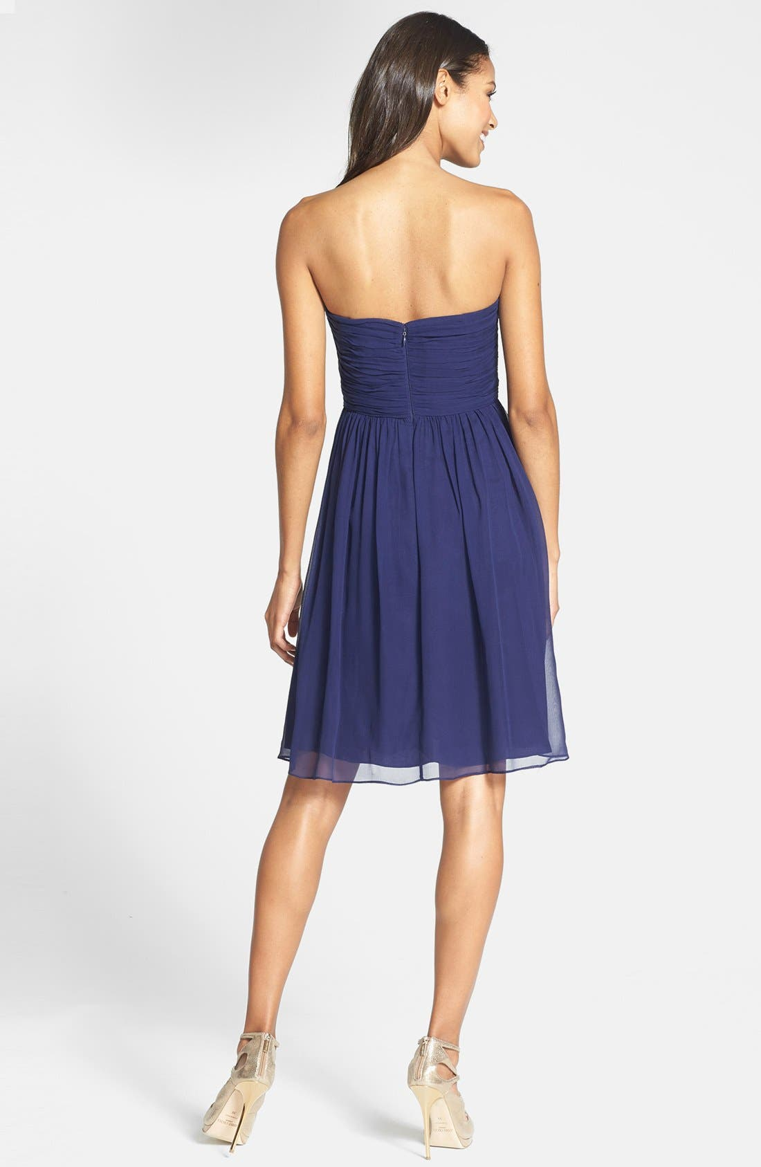 'Morgan' Strapless Silk Chiffon Dress,                             Alternate thumbnail 133, color,