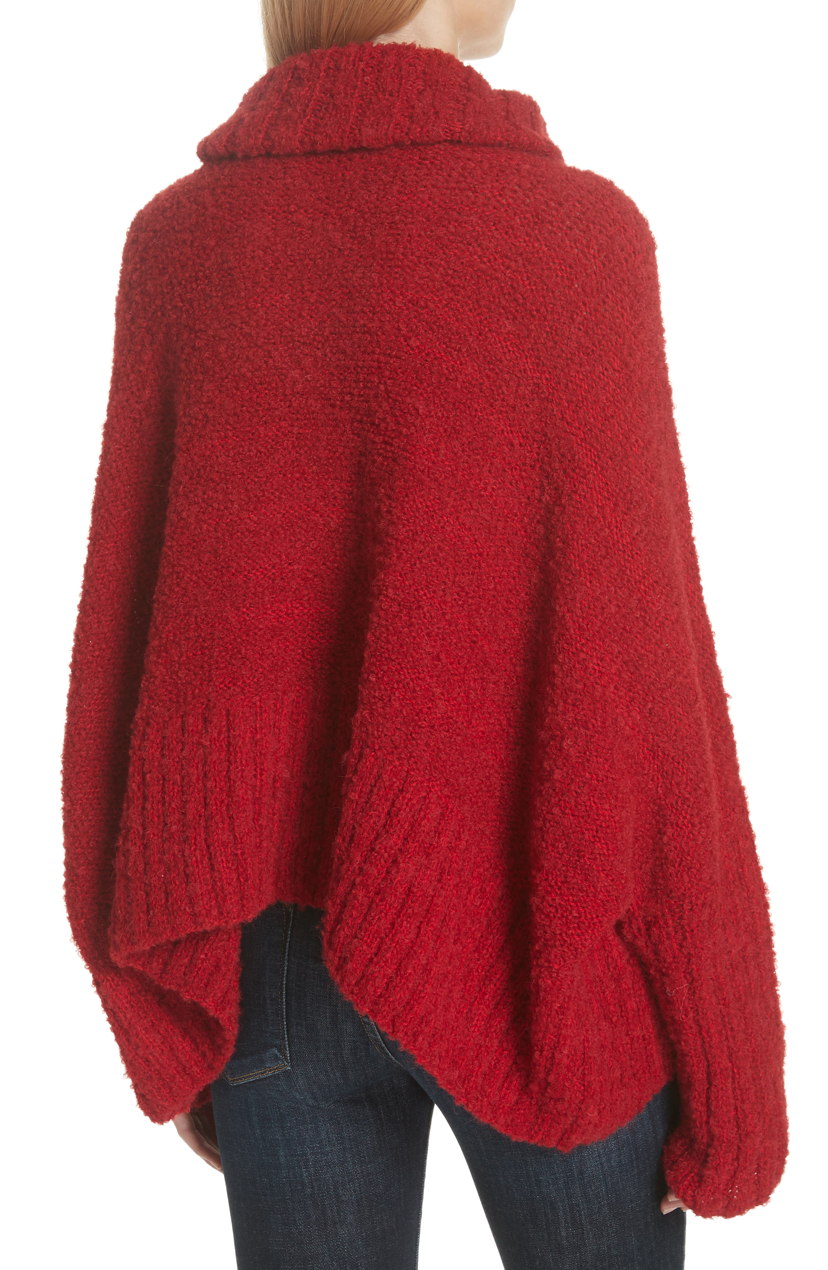 Alpaca & Wool Blend Swing Turtleneck,                             Alternate thumbnail 2, color,                             600