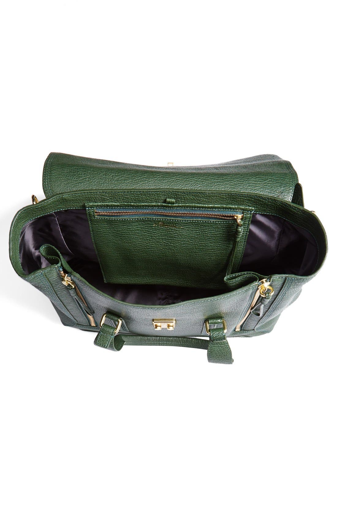 'Large Pashli' Leather Satchel,                             Alternate thumbnail 12, color,