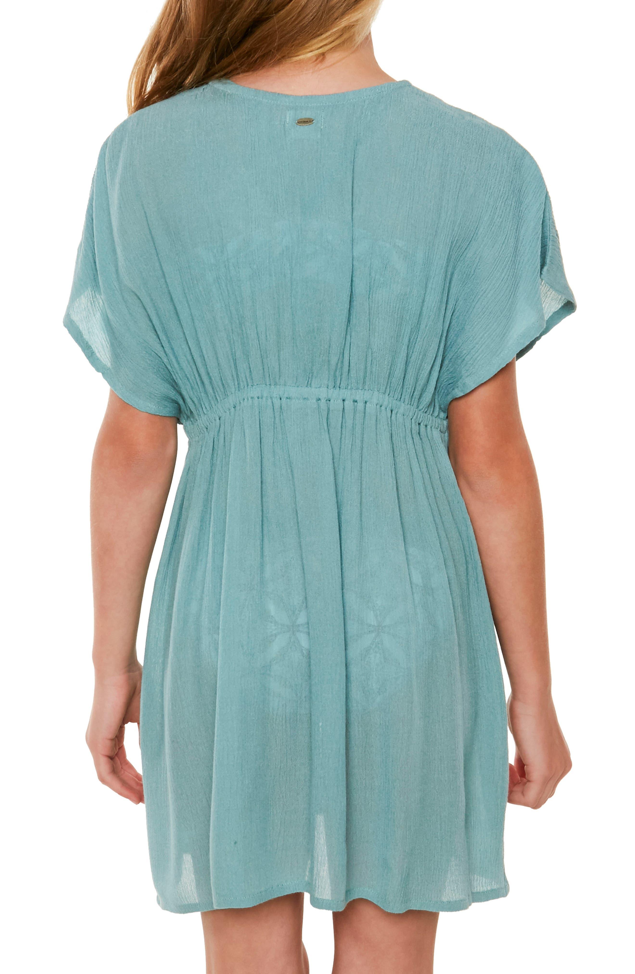 Kayla Crochet Cover-Up Dress,                             Alternate thumbnail 4, color,                             420