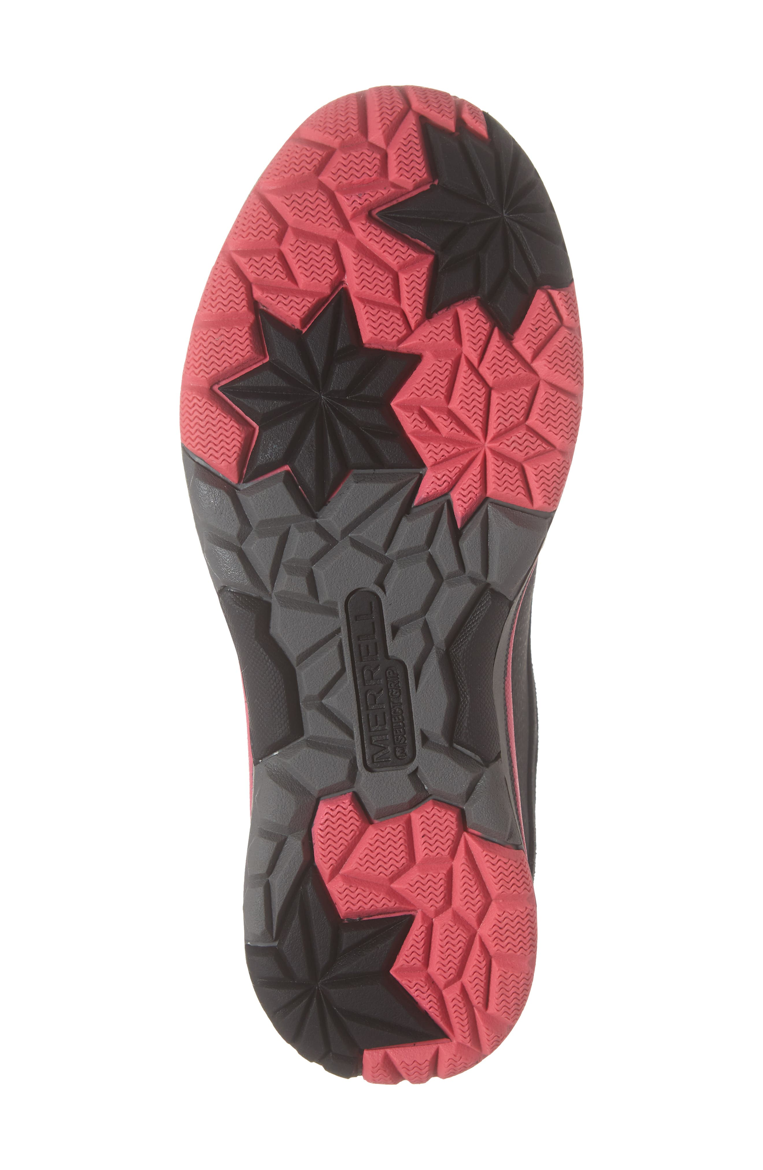 Moab FST Polar Mid Waterproof Insulated Sneaker Boot,                             Alternate thumbnail 6, color,                             BLACK/ PINK