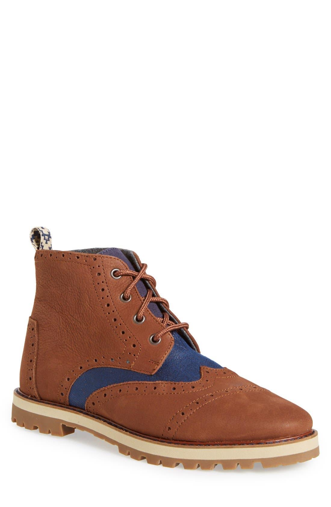 'Brogue' Boot, Main, color, 200