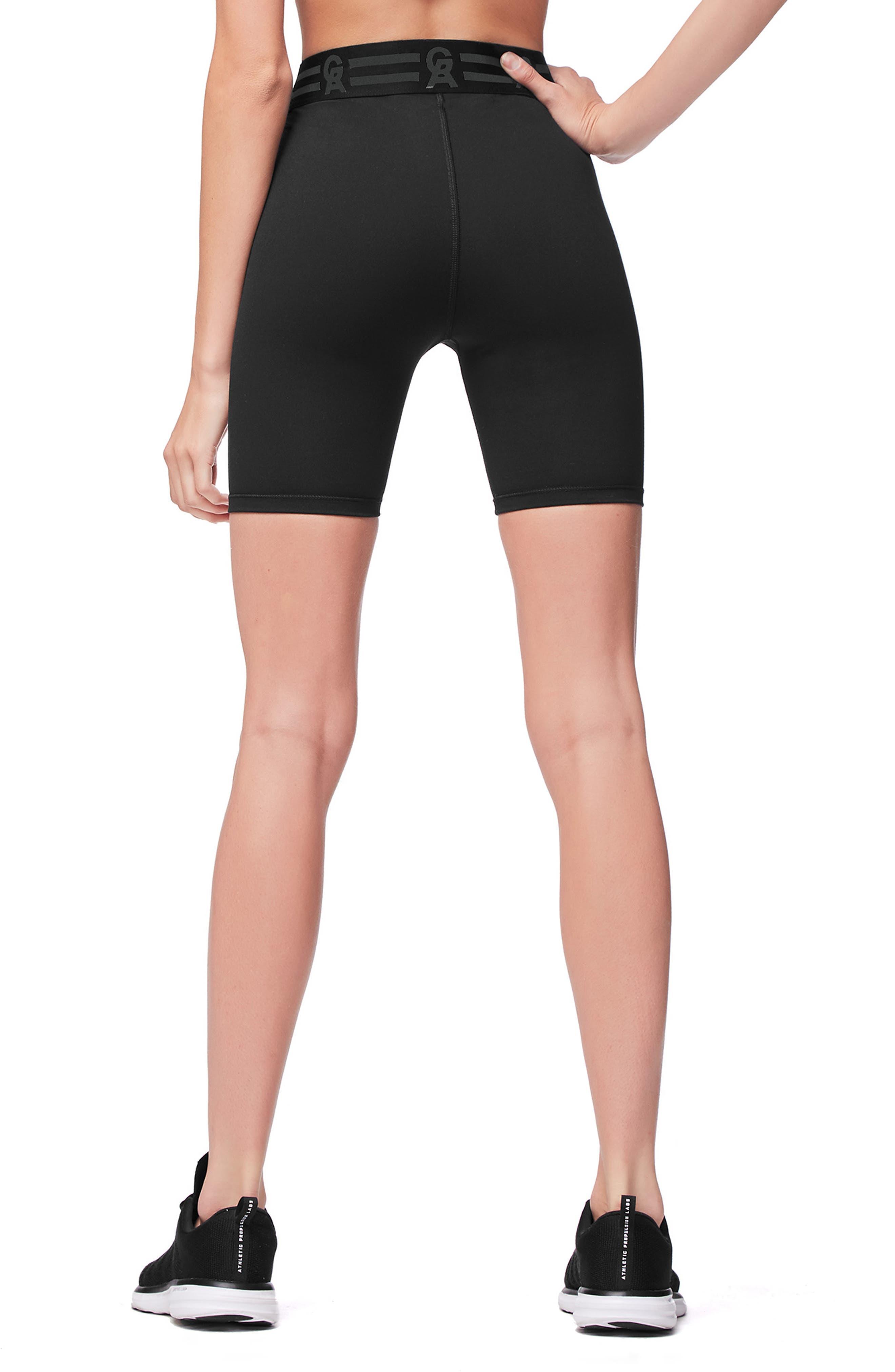 Icon High Waist Biker Shorts,                             Alternate thumbnail 3, color,                             BLACK001