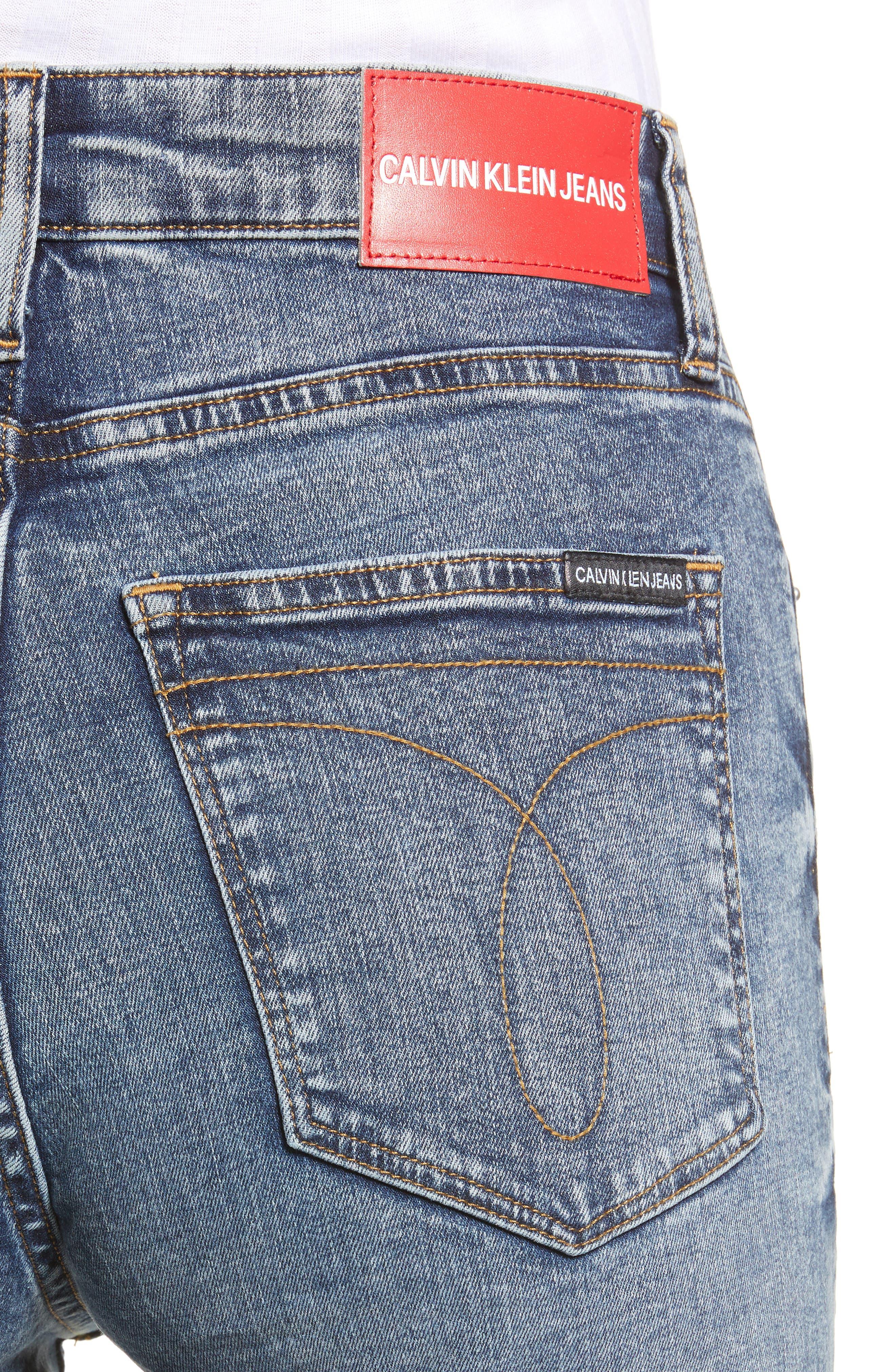 High Waist Skinny Jeans,                             Alternate thumbnail 4, color,                             400