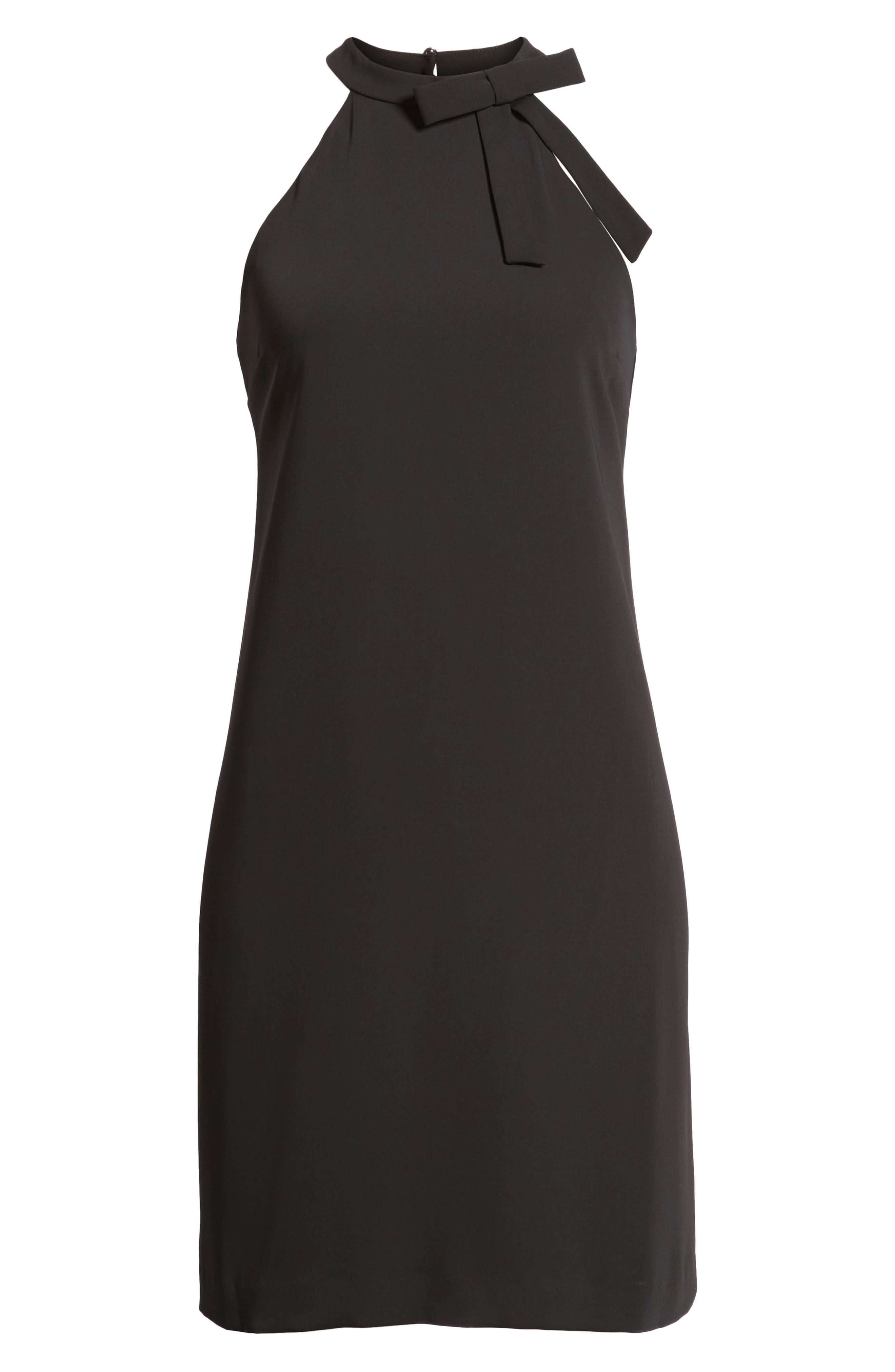Crepe Shift Dress,                             Alternate thumbnail 6, color,                             010