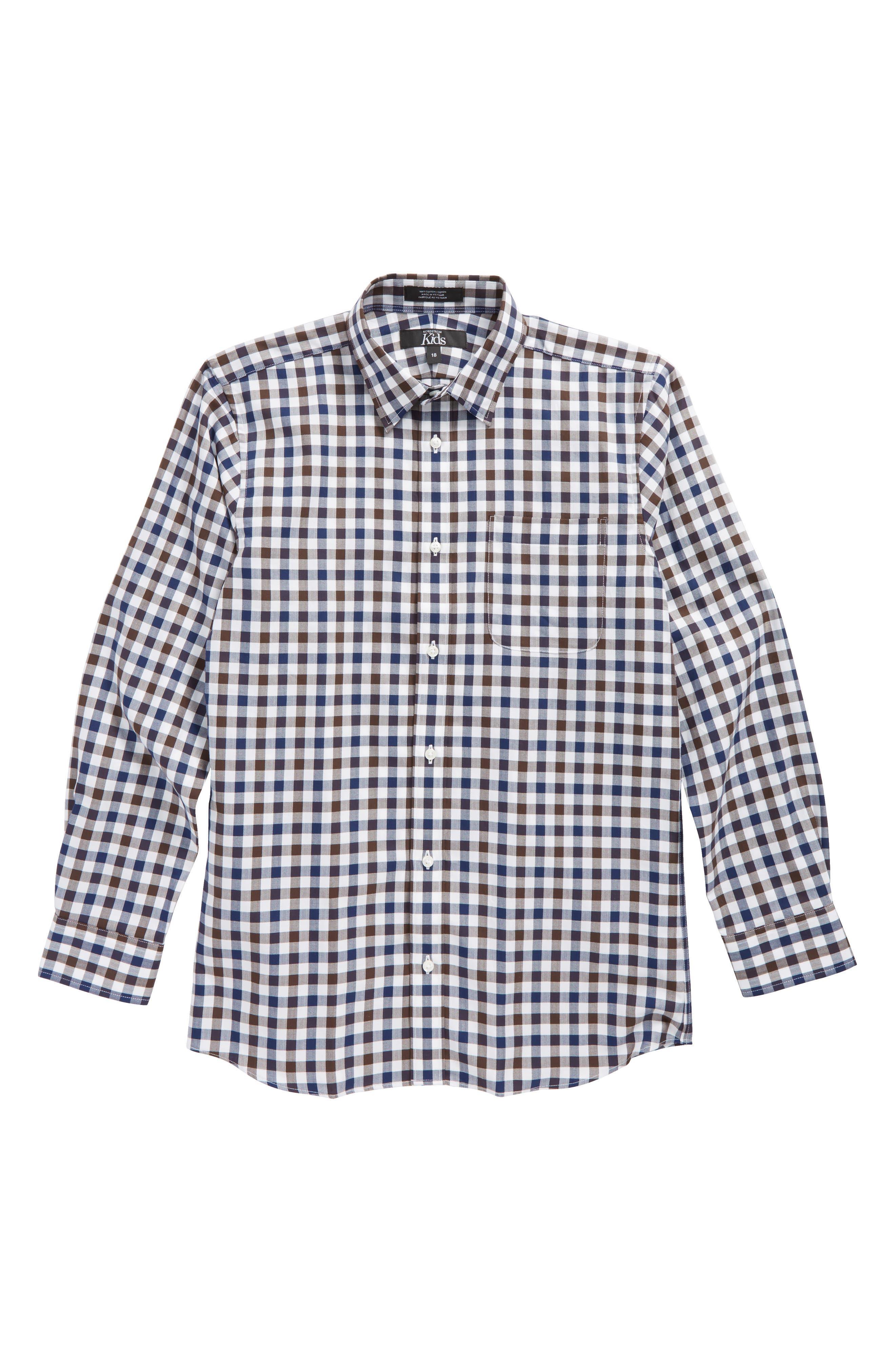 Gingham Sport Shirt,                             Main thumbnail 1, color,