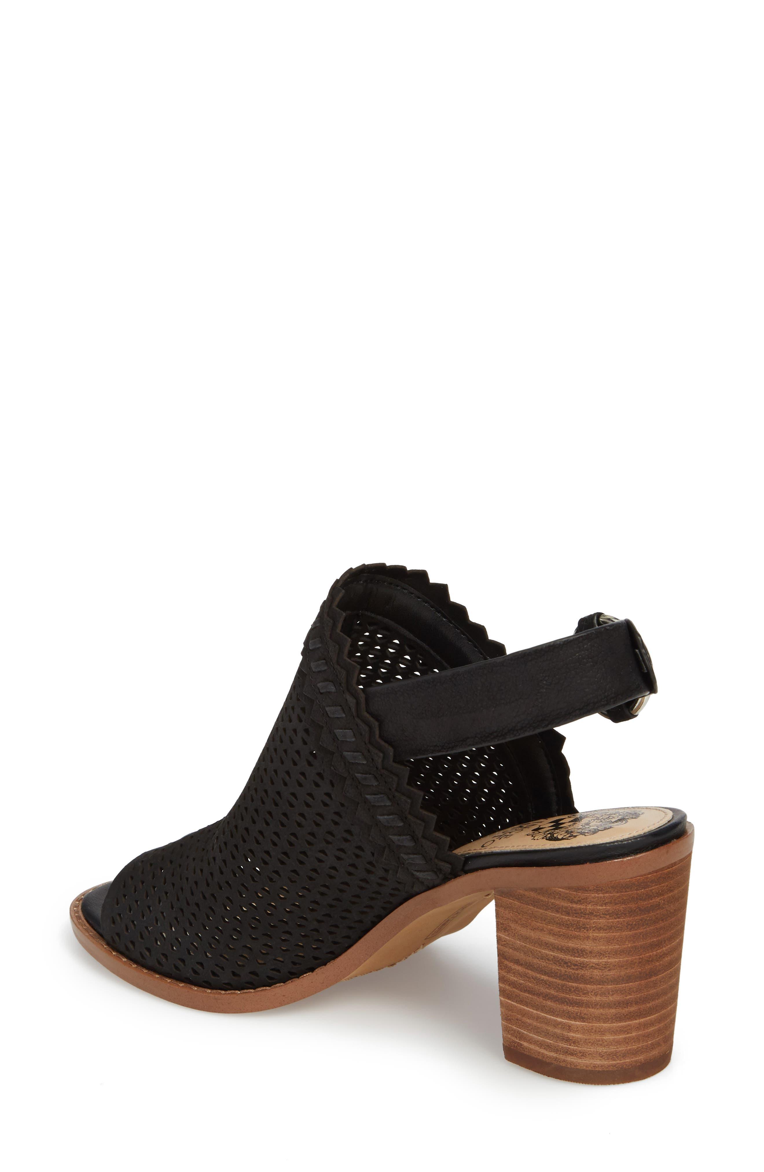 Tricinda Block Heel Sandal,                             Alternate thumbnail 2, color,                             BLACK LEATHER