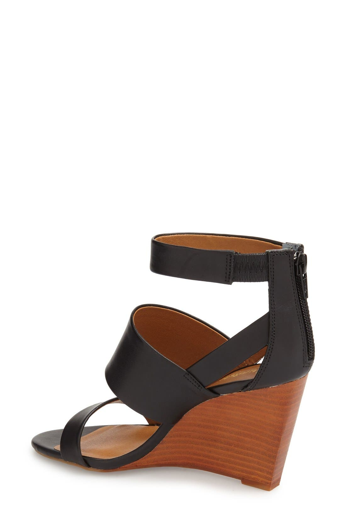 'Suave' Wedge Sandal,                             Alternate thumbnail 2, color,                             001