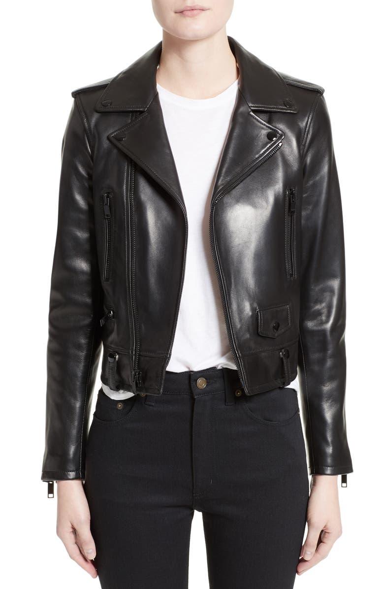 Stud Embellished Biker Leather Modesens Laurent Jacket In Saint Black OCZ5qwE