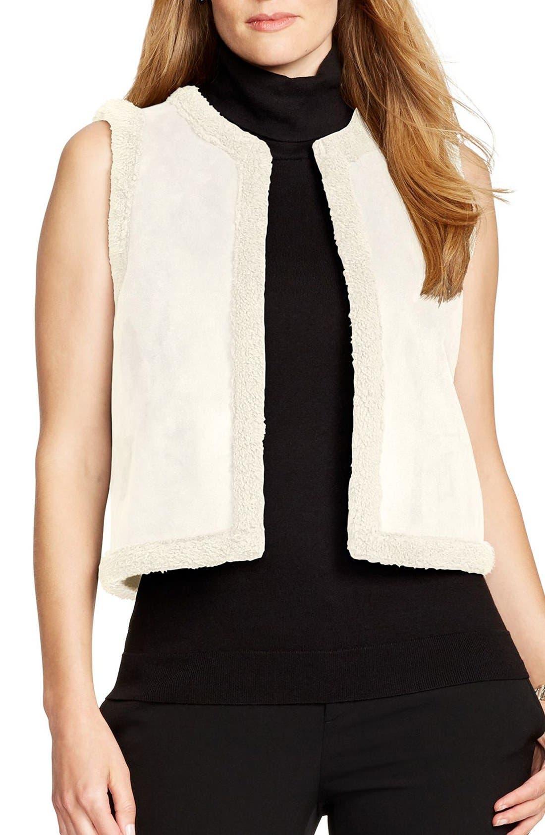 Faux Shearling Vest, Main, color, 250