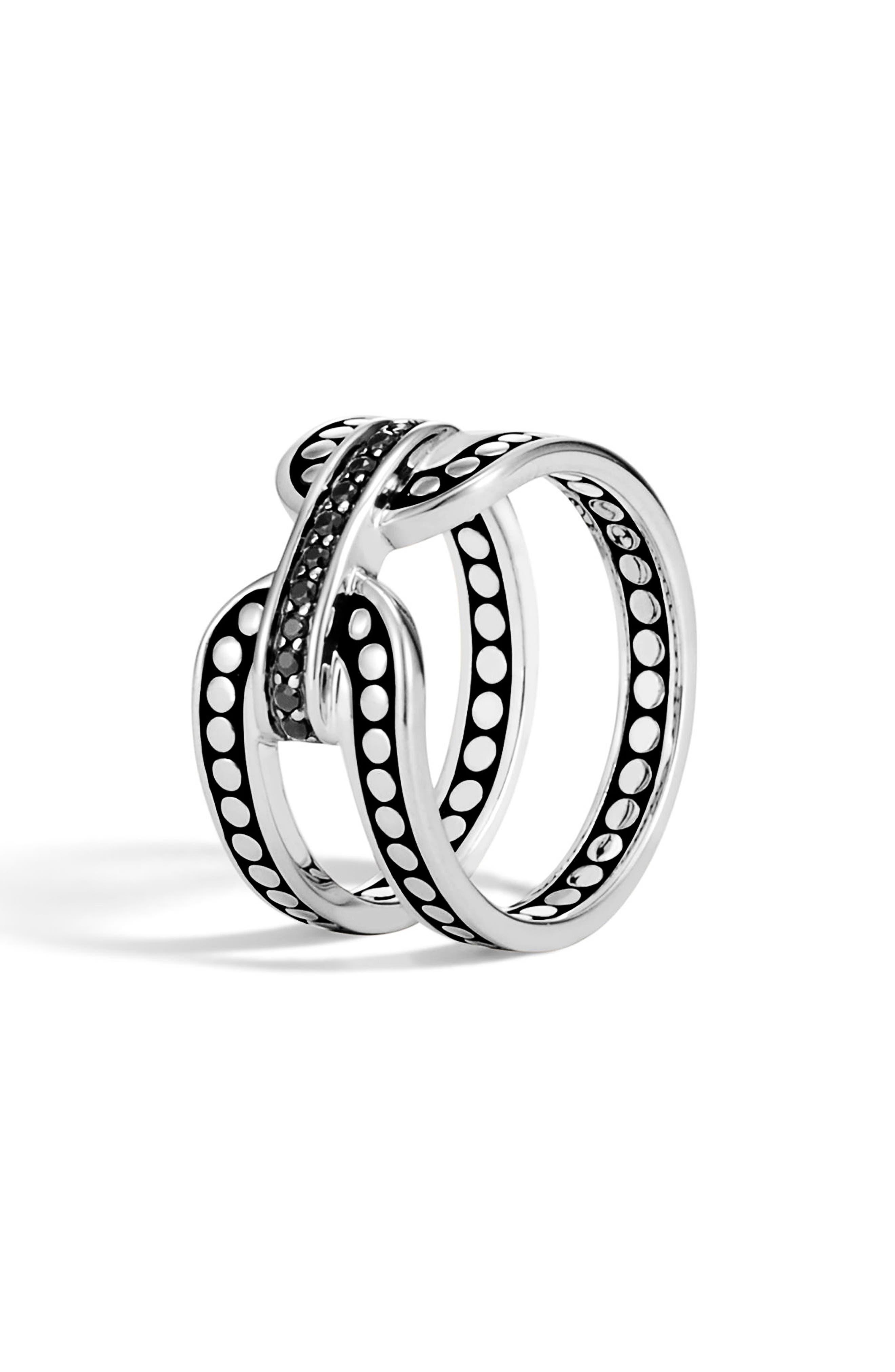 Dot Silver Ring,                             Main thumbnail 1, color,                             040