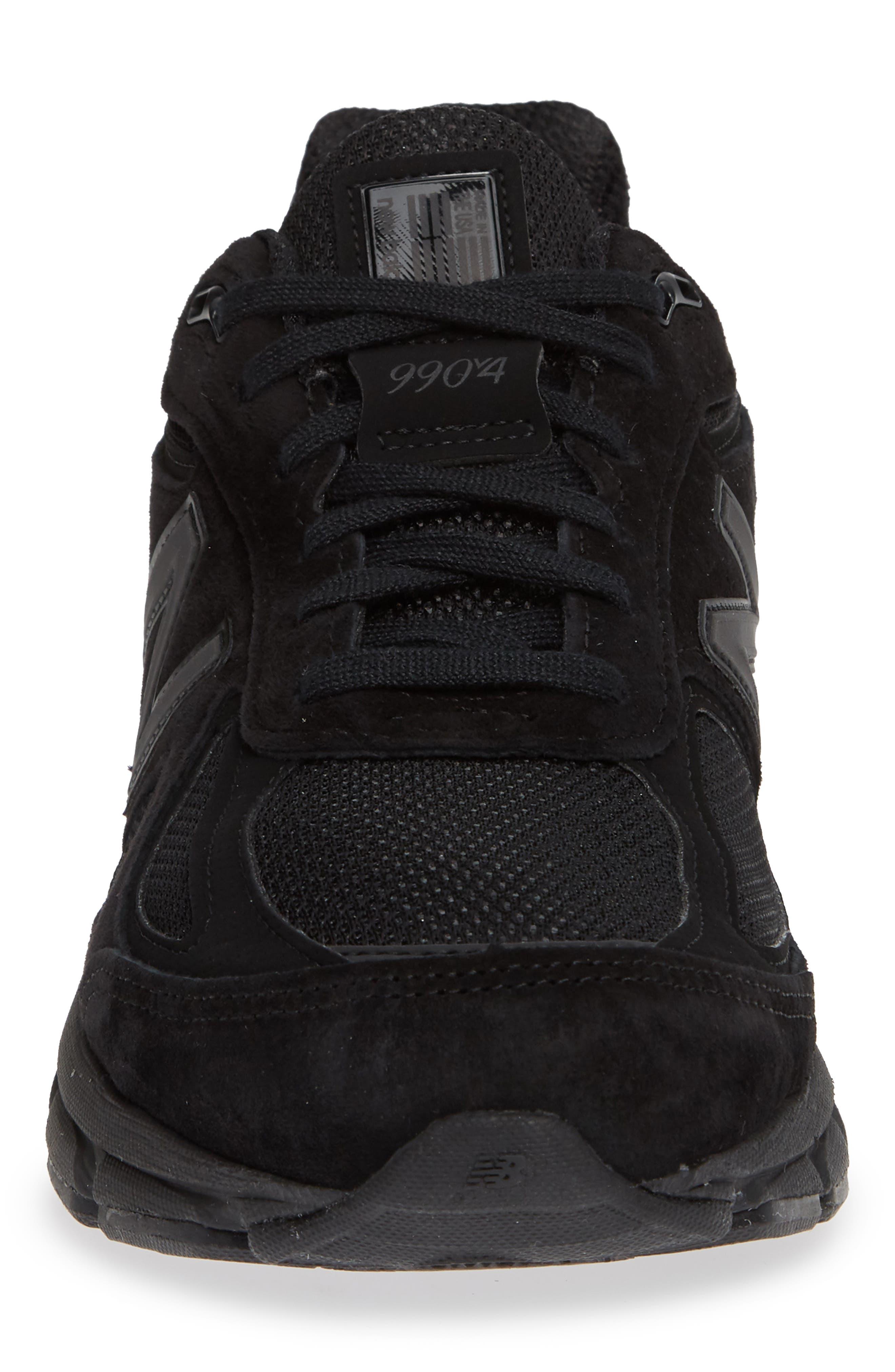 '990' Running Shoe,                             Alternate thumbnail 4, color,                             BLACK/BLACk