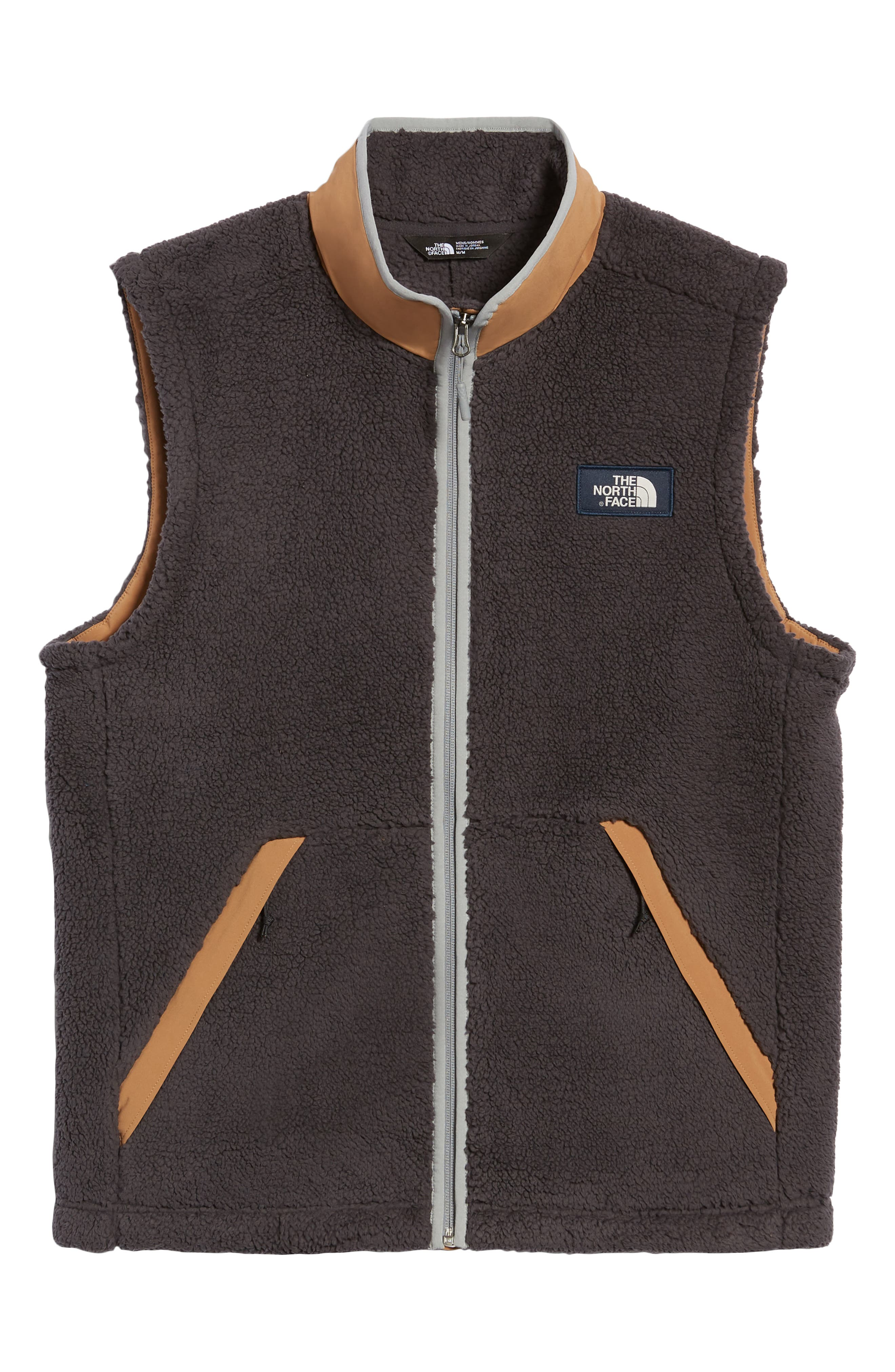 Campshire Fleece Vest,                             Alternate thumbnail 6, color,                             WEATHERED BLACK/ CARGO KHAKI