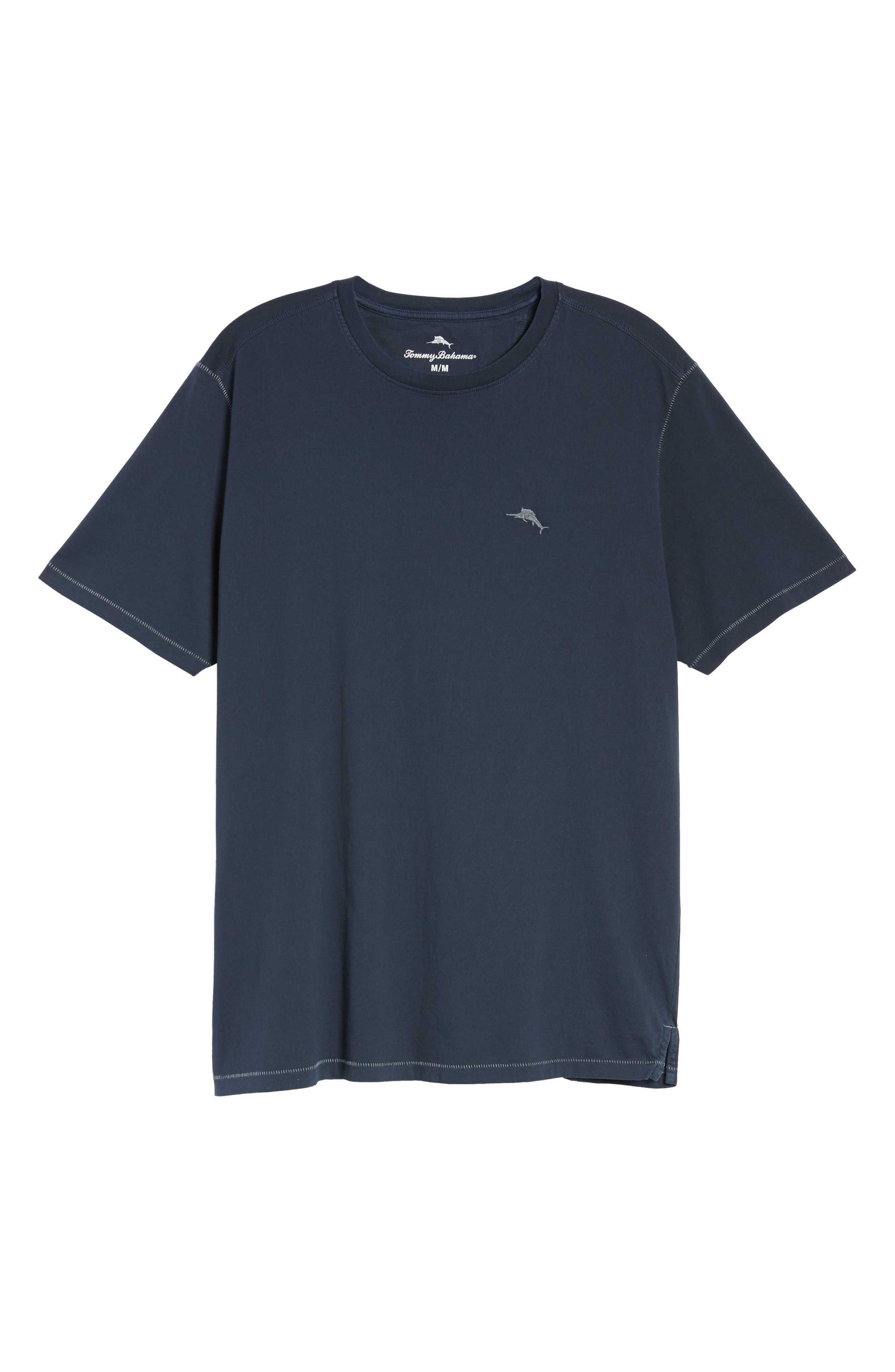 Beach Crewneck T-Shirt,                             Alternate thumbnail 6, color,                             BLUE NOTE