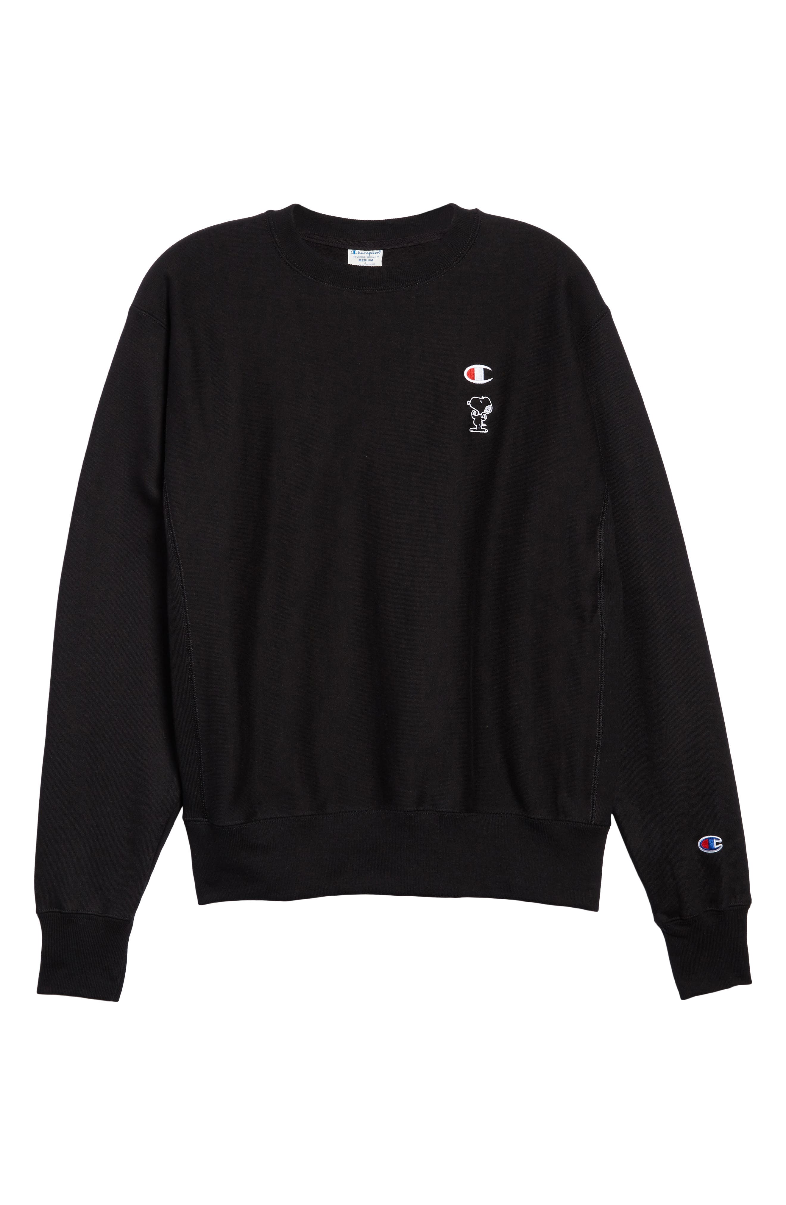 Snoopy Unisex Sweatshirt,                             Alternate thumbnail 6, color,                             001