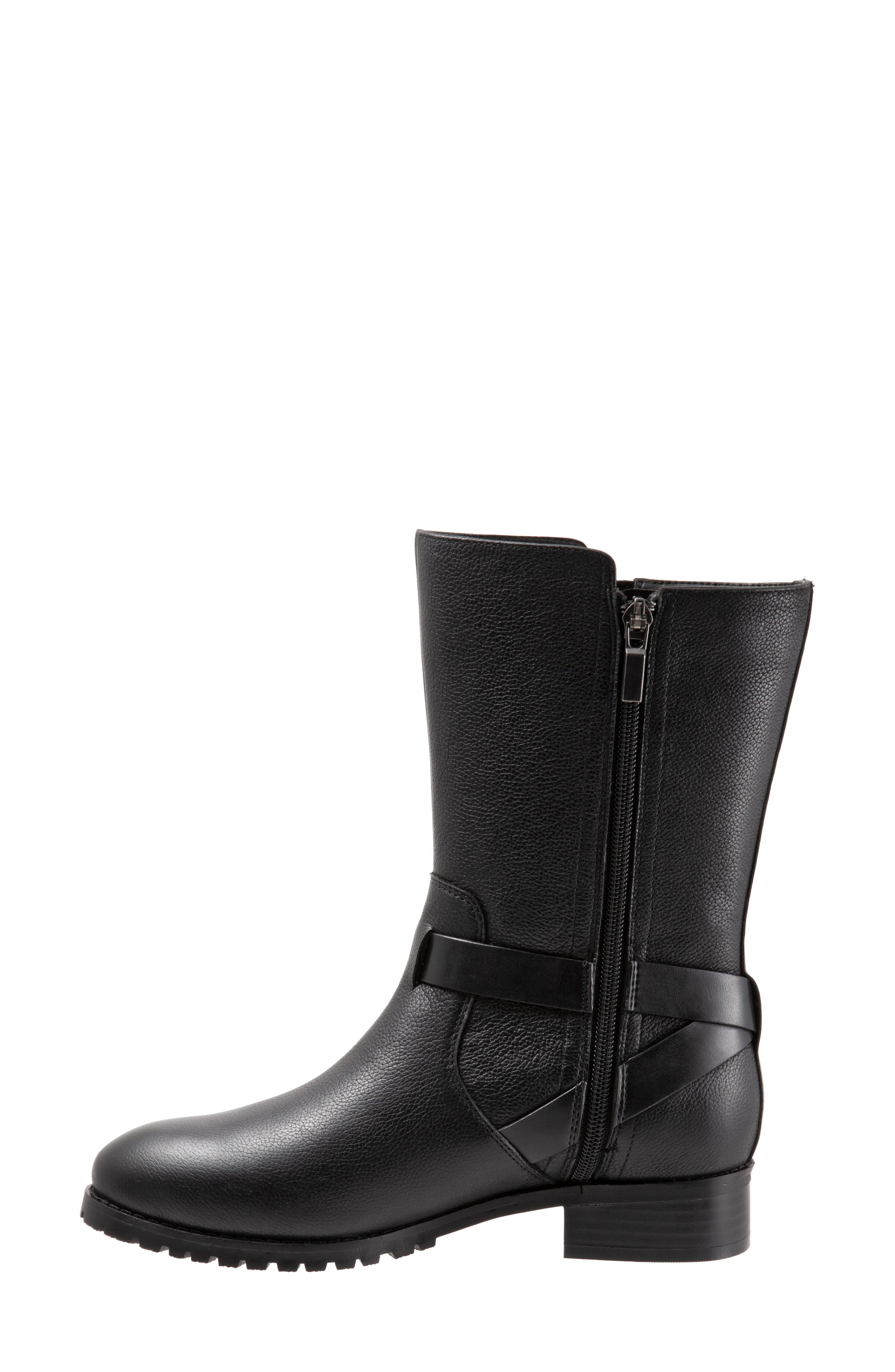 Marlowe Boot,                             Alternate thumbnail 8, color,                             BLACK LEATHER