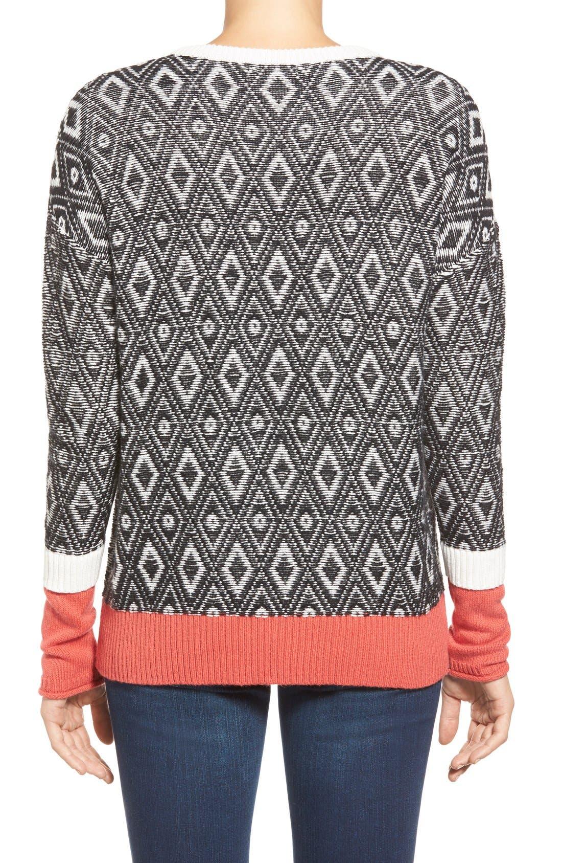 Contrast Cuff Crewneck Sweater,                             Alternate thumbnail 22, color,