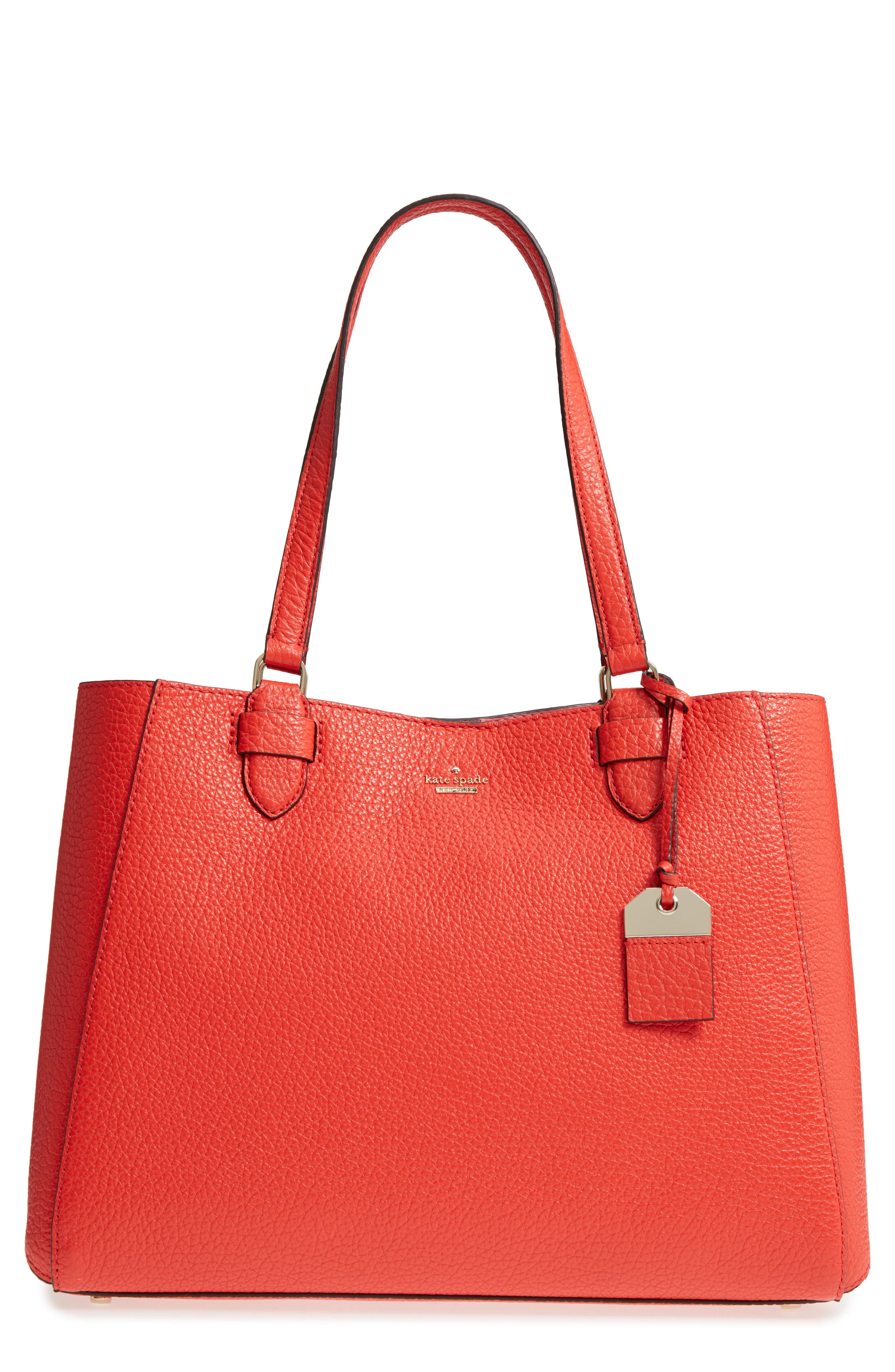 carter street - tyler leather tote,                             Main thumbnail 4, color,