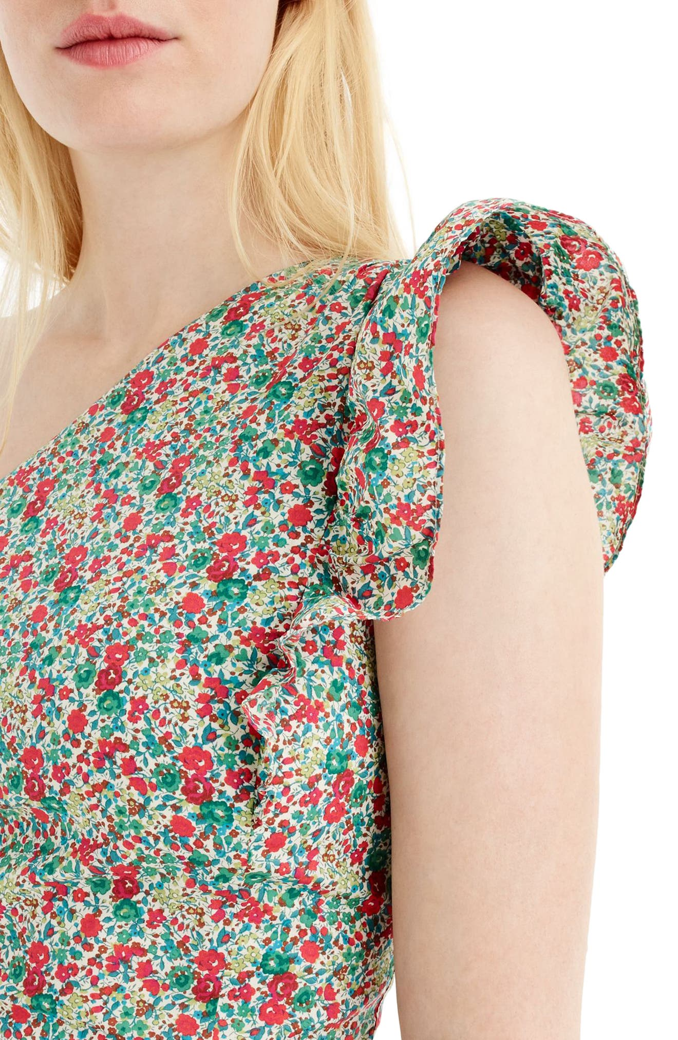 Asymmetrical Liberty<sup>®</sup> Ruffle Dress,                             Alternate thumbnail 3, color,                             600