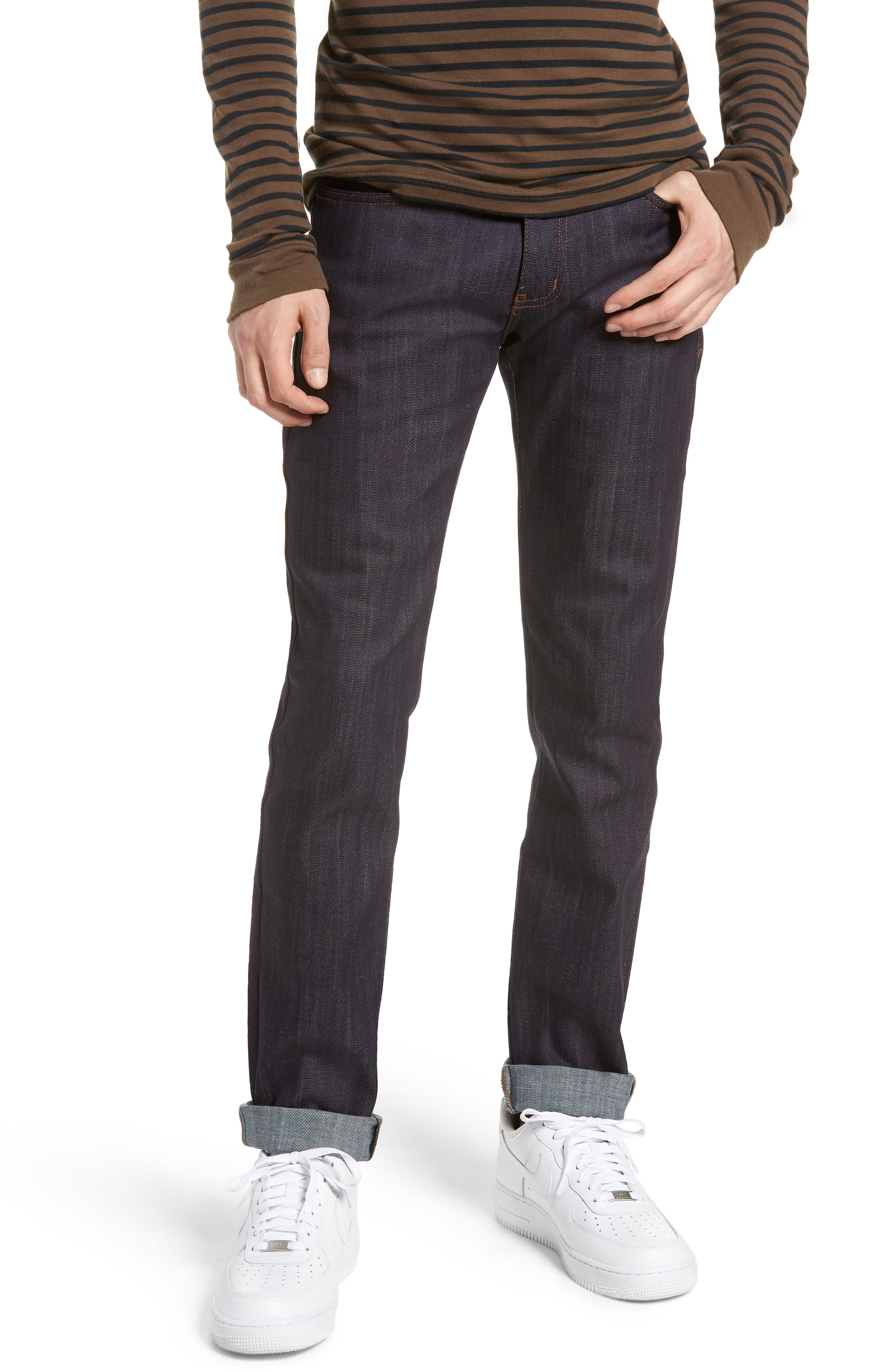Naked & Famous Super Skinny Guy Skinny Fit Jeans,                             Main thumbnail 1, color,                             INDIGO POWER STRETCH