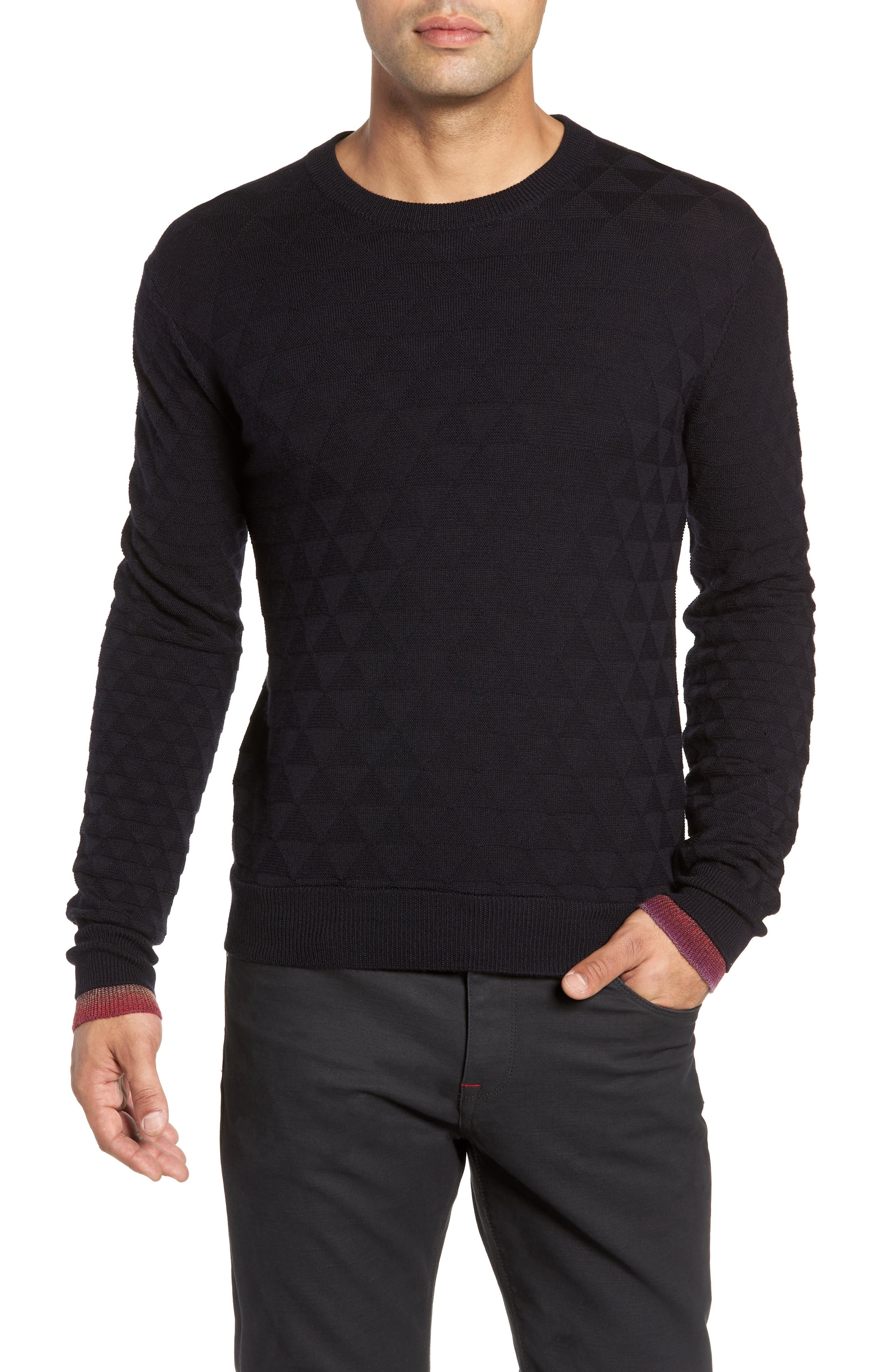 Blackburn Classic Fit Sweater,                             Main thumbnail 1, color,                             BLACK