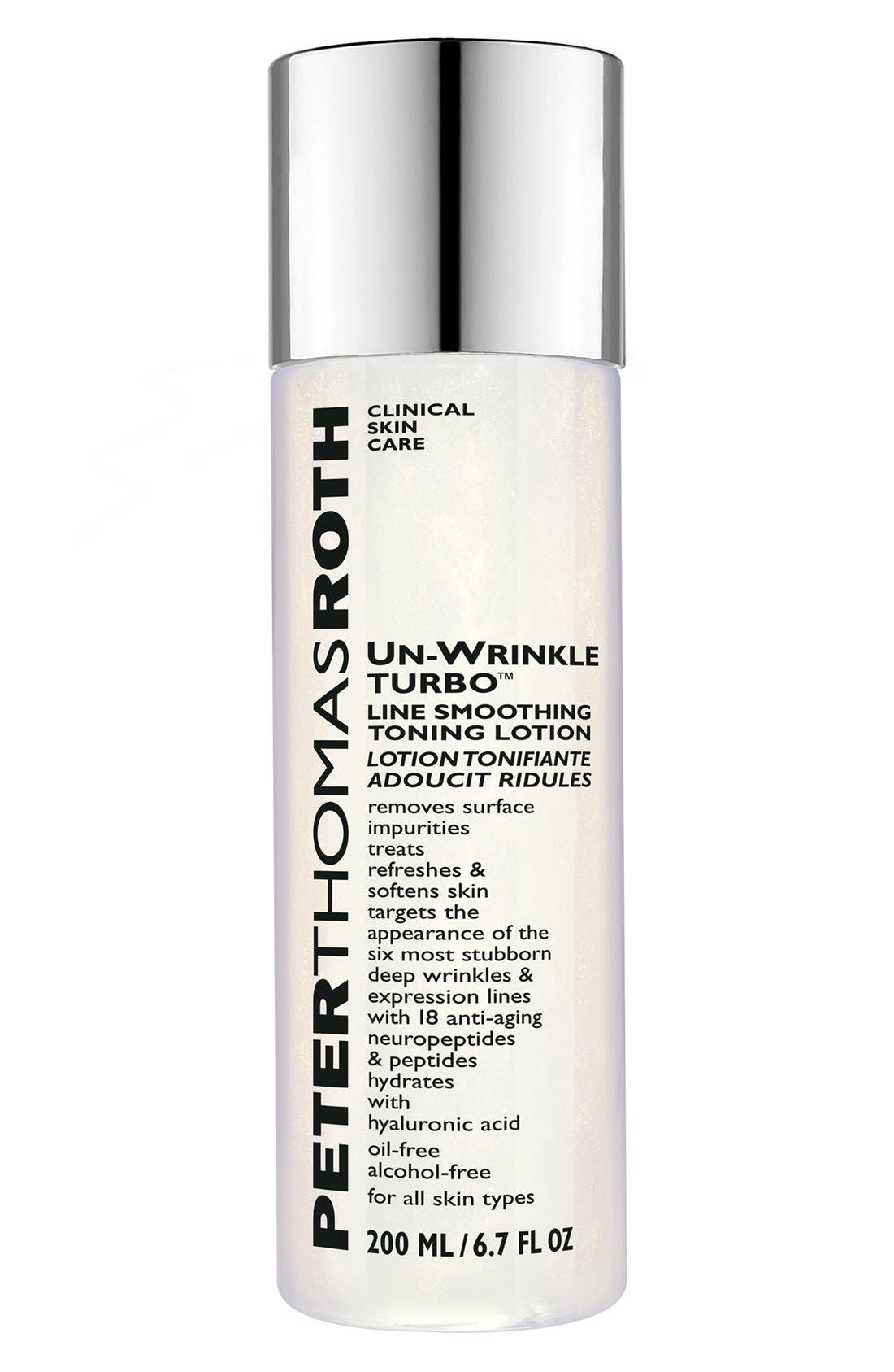 Un-Wrinkle Turbo<sup>™</sup> Line Smoothing Toning Lotion,                             Main thumbnail 1, color,                             NO COLOR
