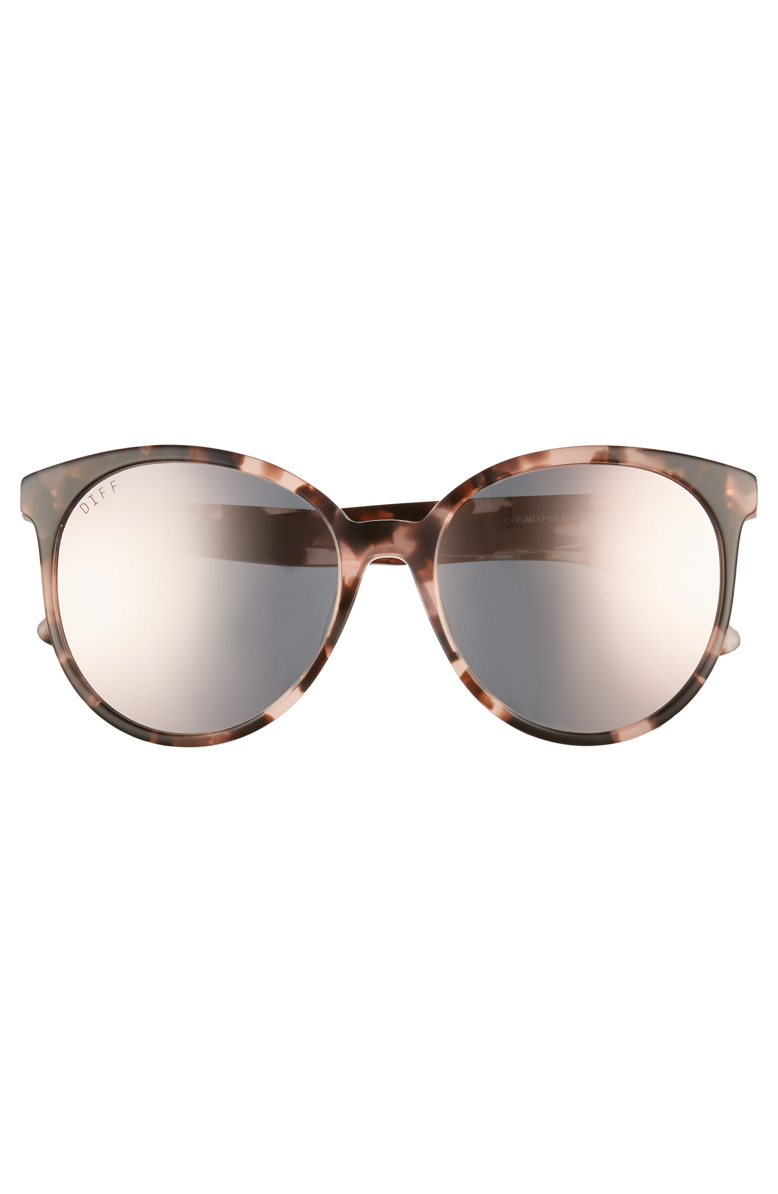 Cosmo 56mm Polarized Round Sunglasses,                             Alternate thumbnail 3, color,                             HIMALAYAN TORTOISE/ TAUPE