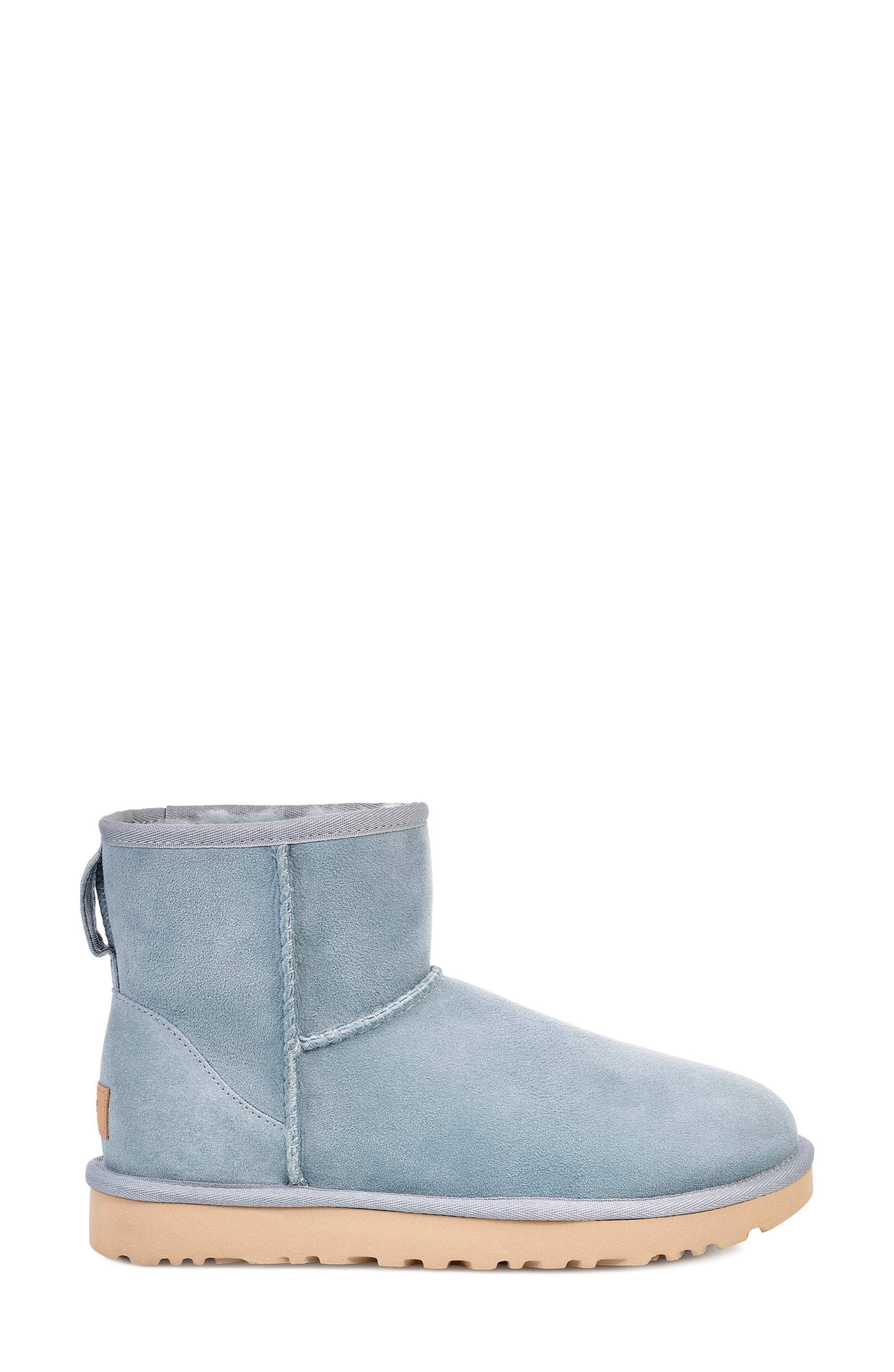 'Classic Mini II' Genuine Shearling Lined Boot,                             Alternate thumbnail 3, color,                             SUCCULENT SUEDE