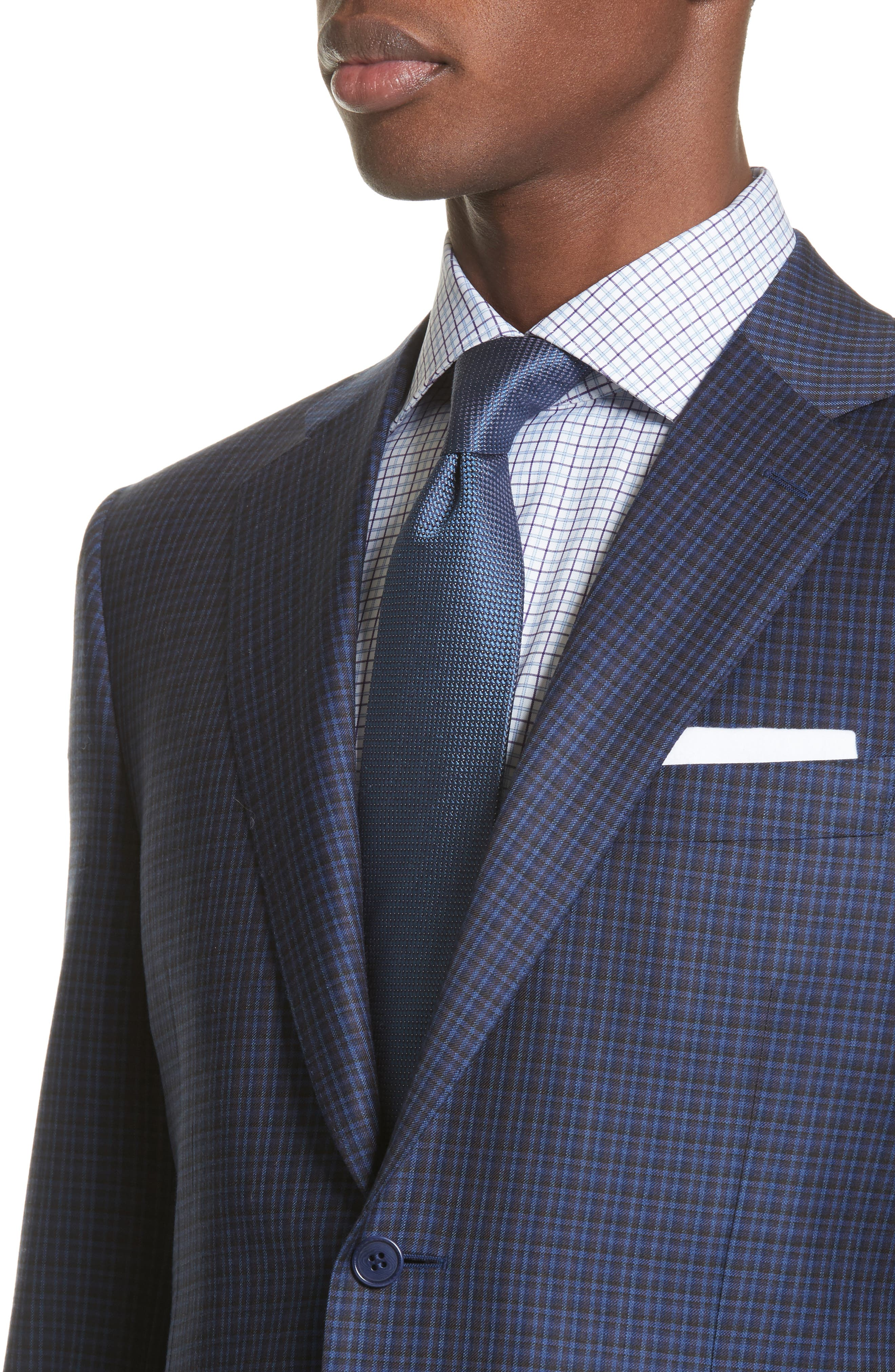 Classic Fit Check Wool Sport Coat,                             Alternate thumbnail 4, color,                             400