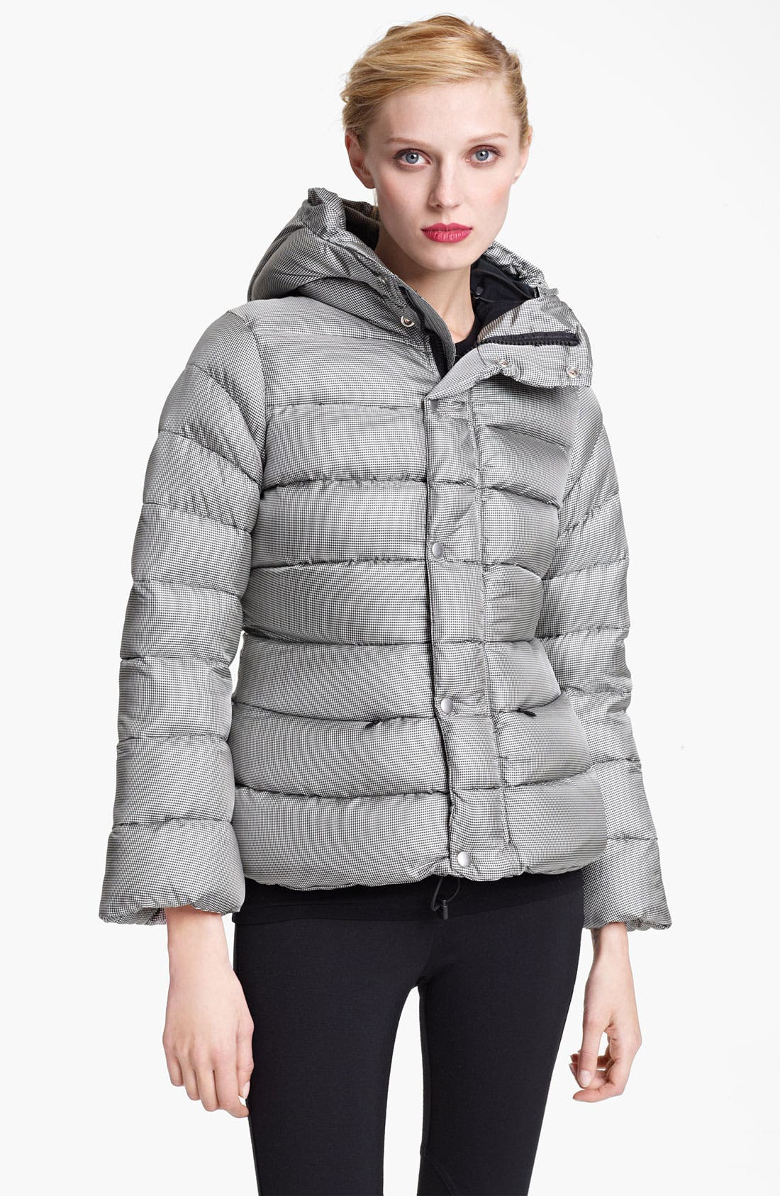 Houndstooth Puffer Jacket,                             Main thumbnail 1, color,                             005
