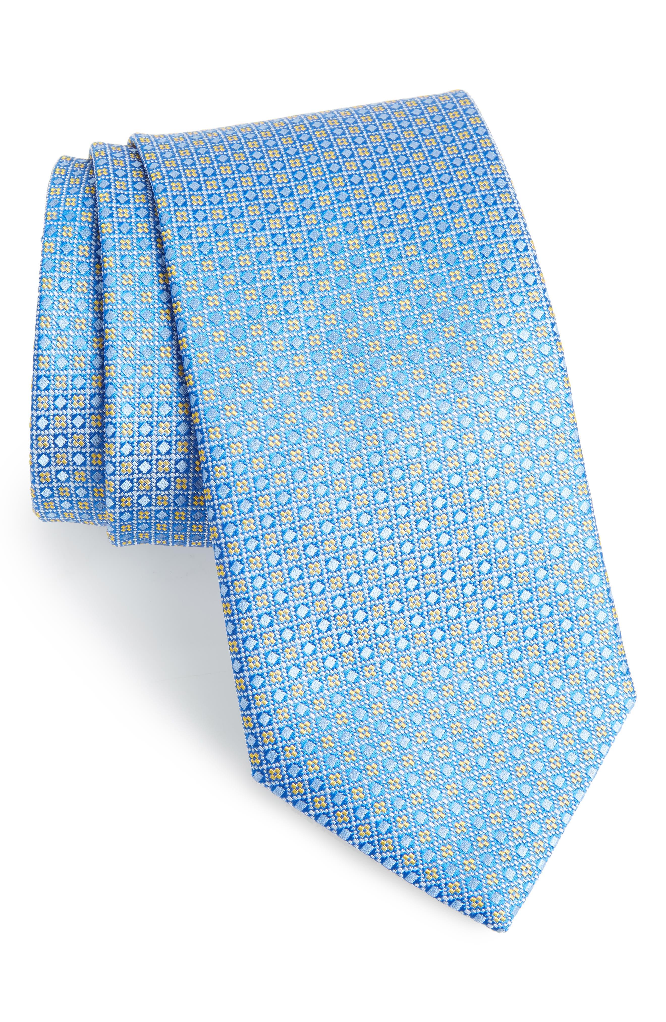 Geometric Silk Tie,                         Main,                         color, 450